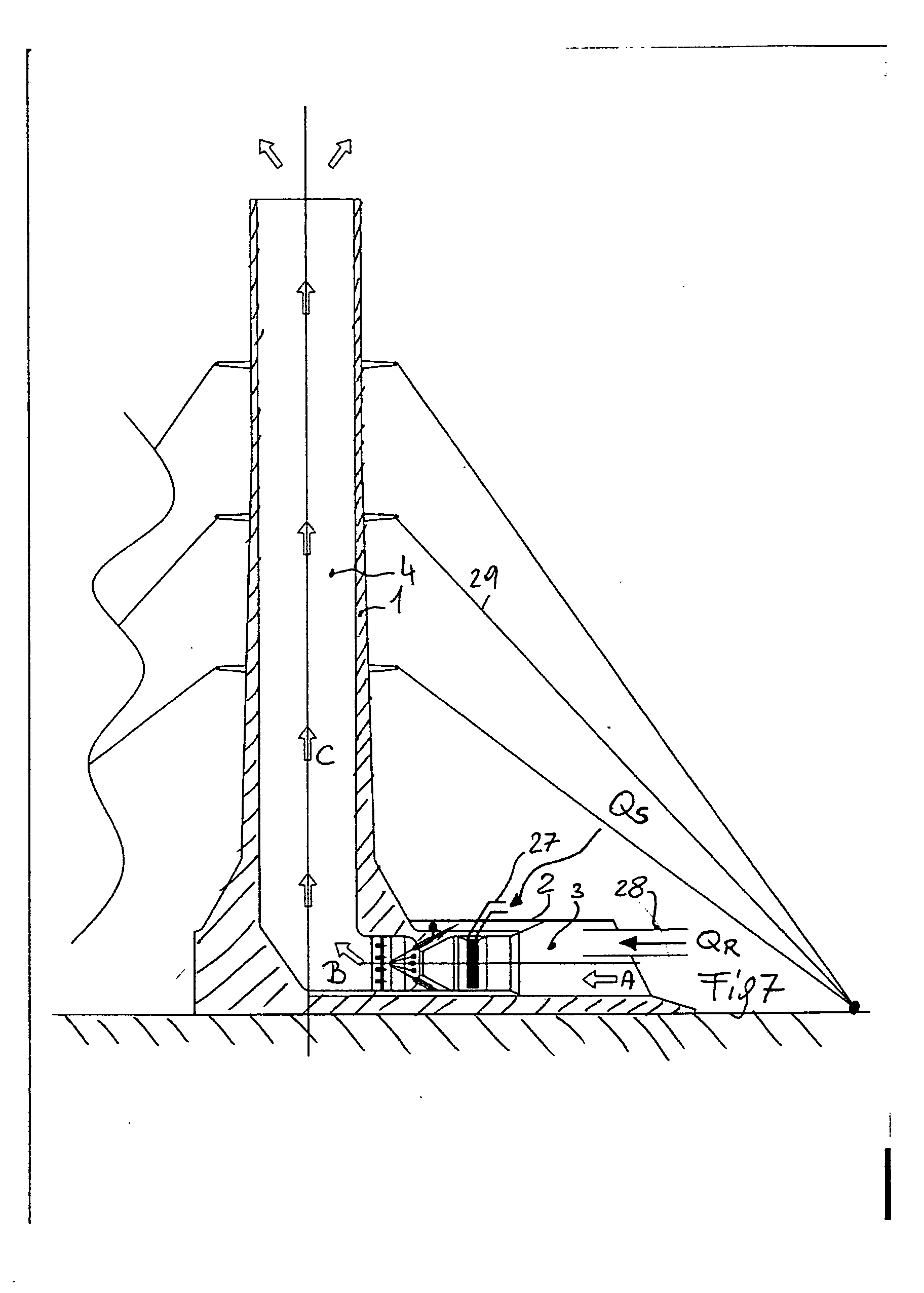 patent ep1589221a2 - wind turbine using chimney effect