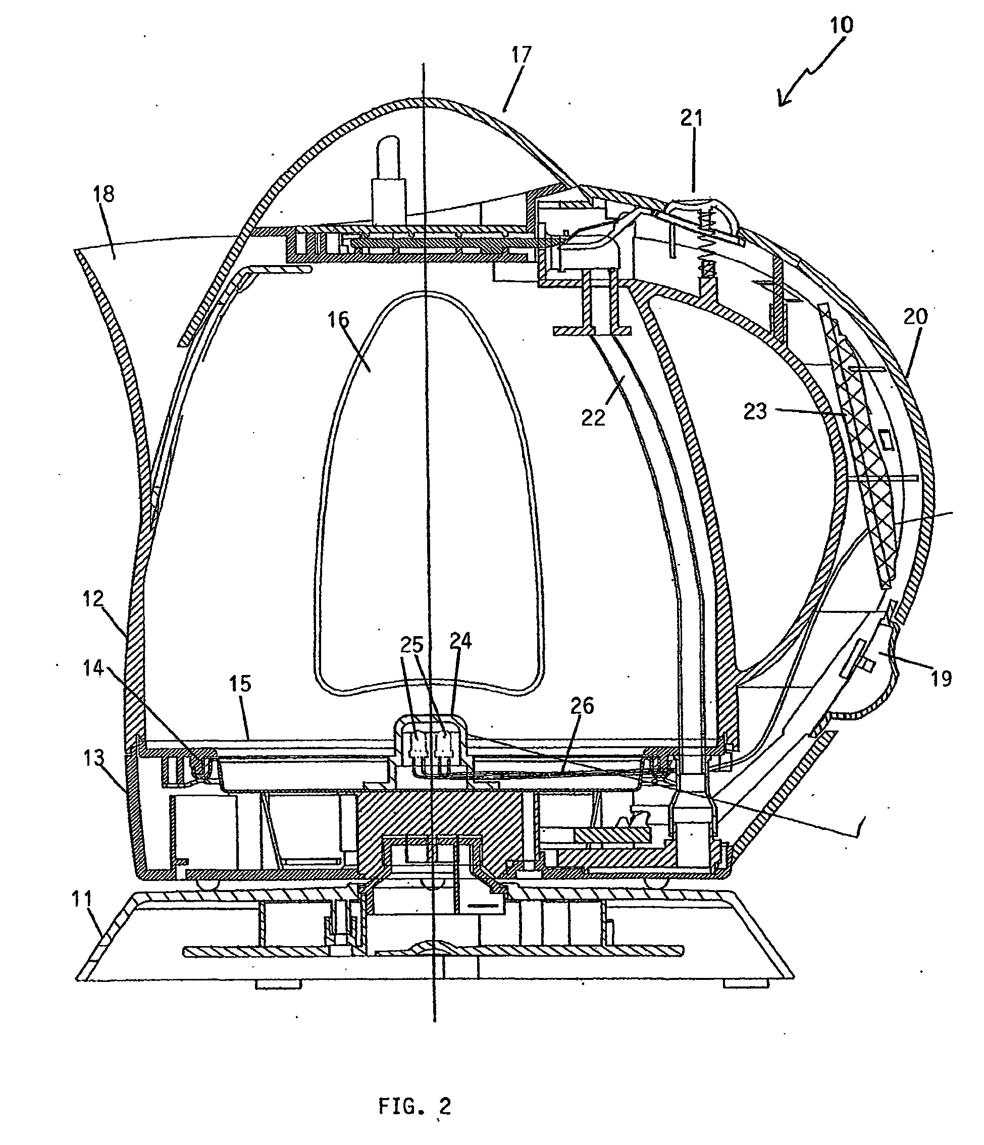 patent ep1597989b1 - electric kettle having led temperature indication through water