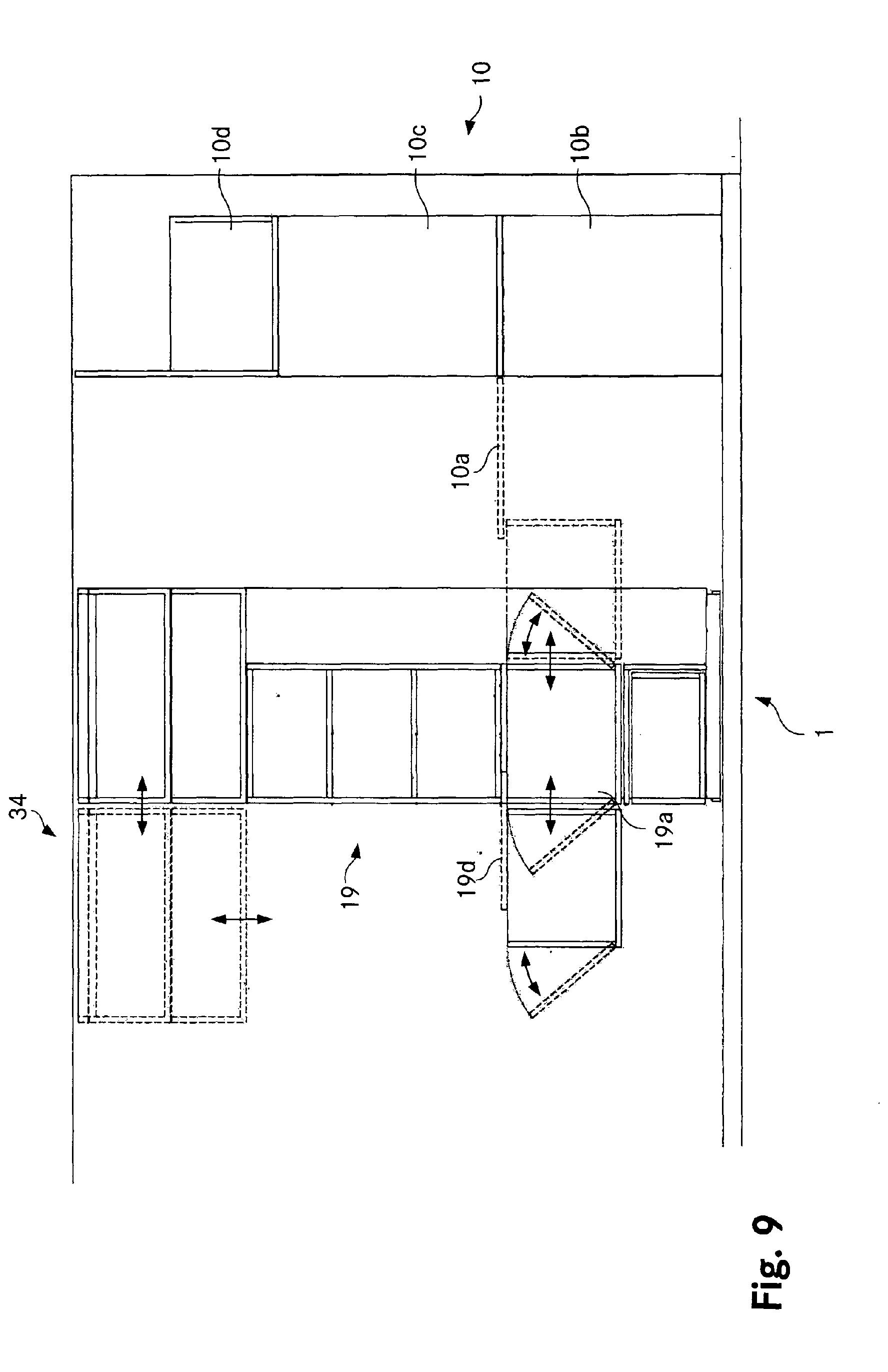 patent ep1604590a1 einbau f r eine wohnung mit einem. Black Bedroom Furniture Sets. Home Design Ideas