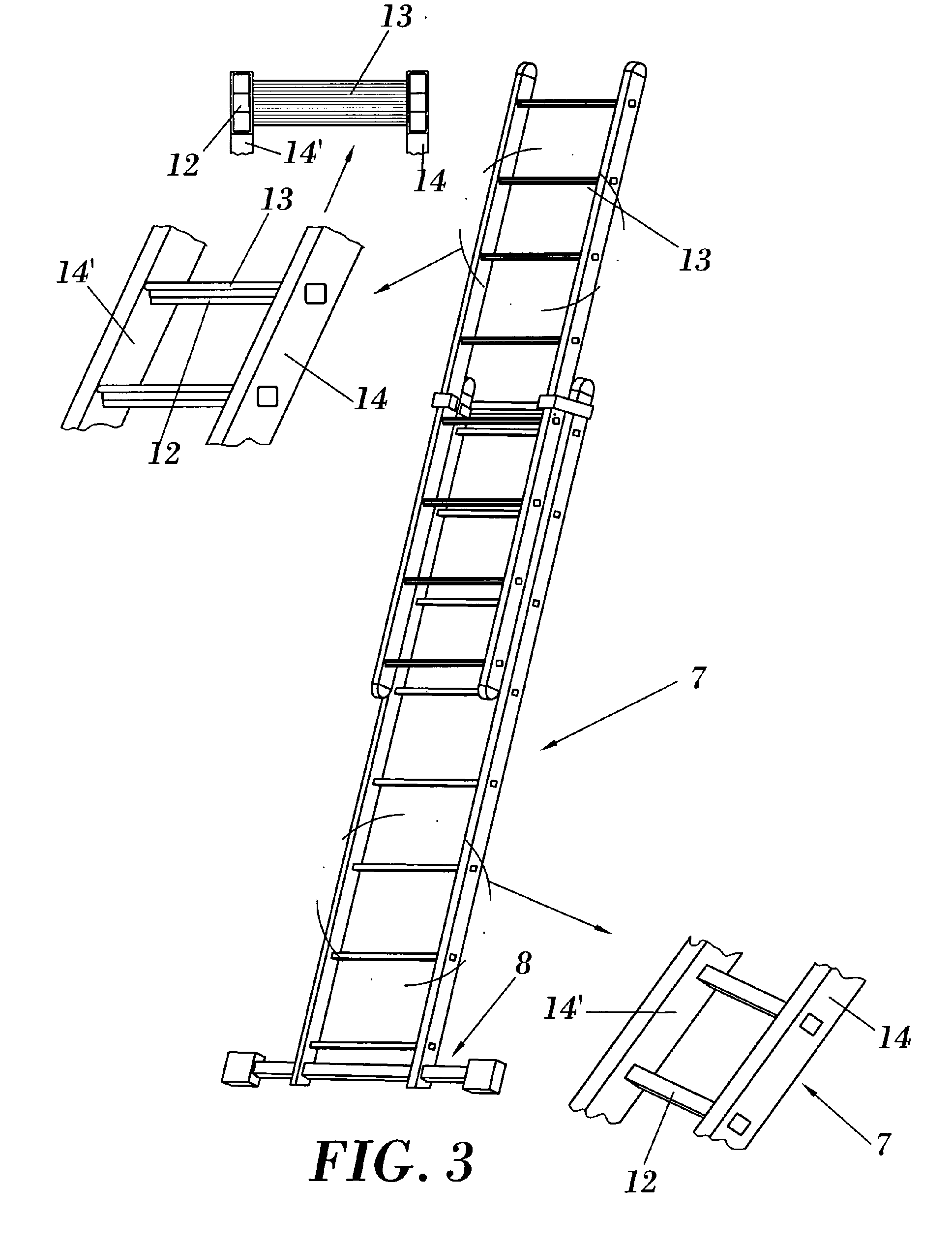 Patent Ep1607570a2 Improved Extension Ladder Google