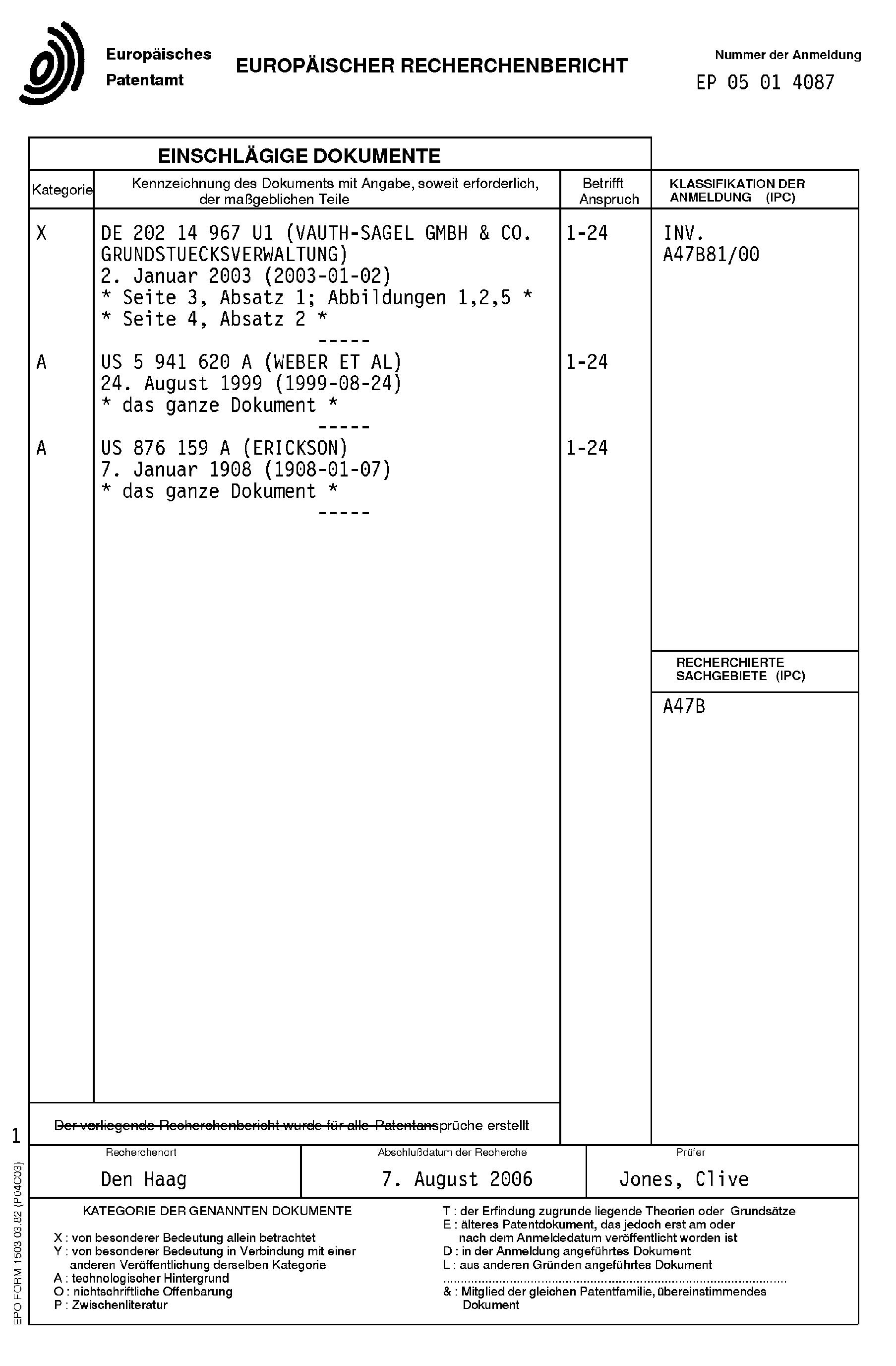 Patent EP1616503A3 - Eckschrank, insbesondere Kücheneckschrank ... | {Kücheneckschrank 20}