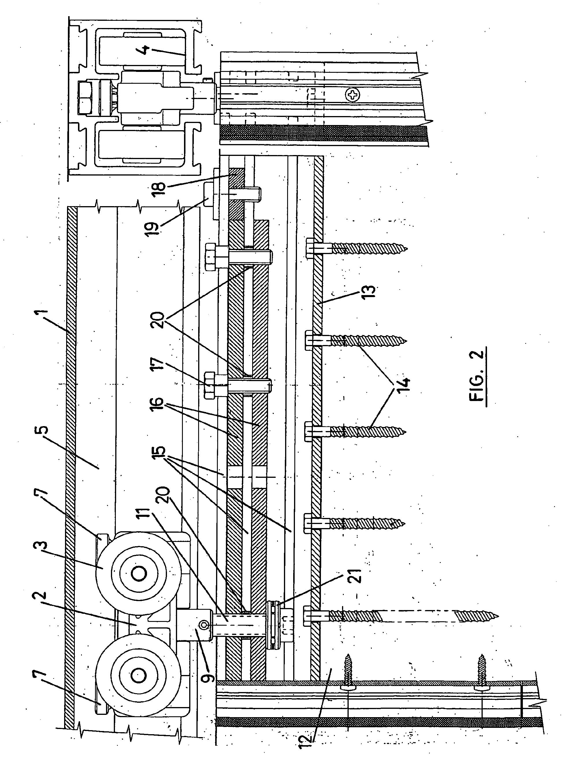 patent ep1630337b1 mechanismus zum h ngen und einstellen. Black Bedroom Furniture Sets. Home Design Ideas