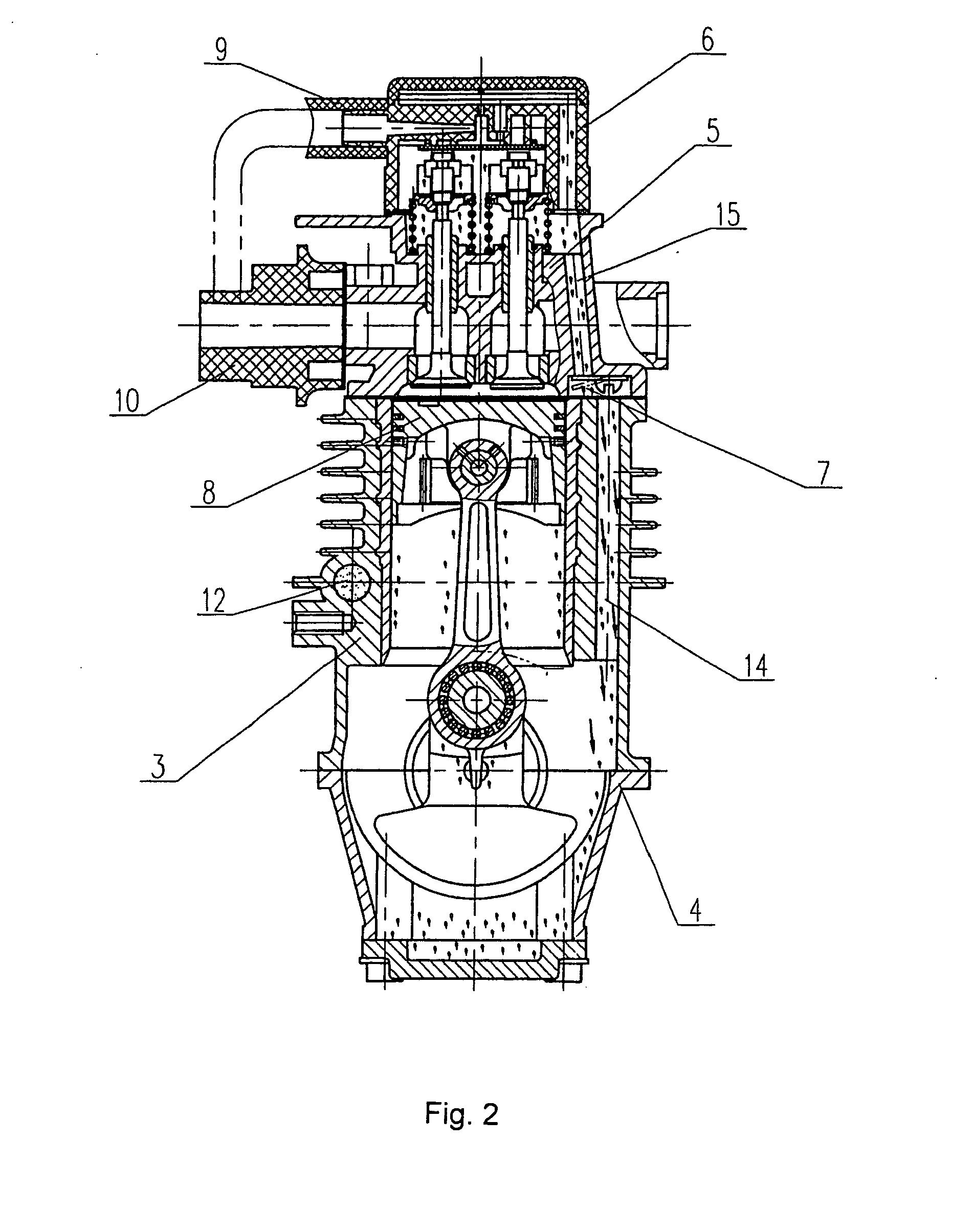 patent ep1666703a1 - a small four-stroke gasoline engine with oil mist lubrication