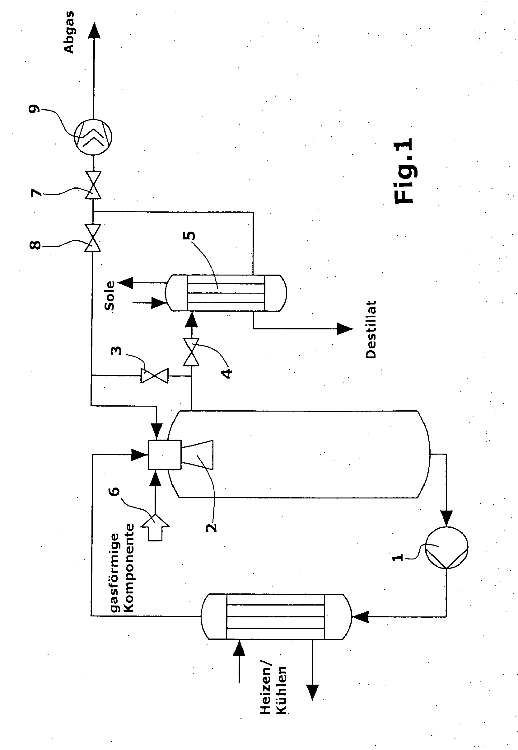 patent ep1685896a1 - equilibrium reactions and gas  liquid reaction in a loop reactor