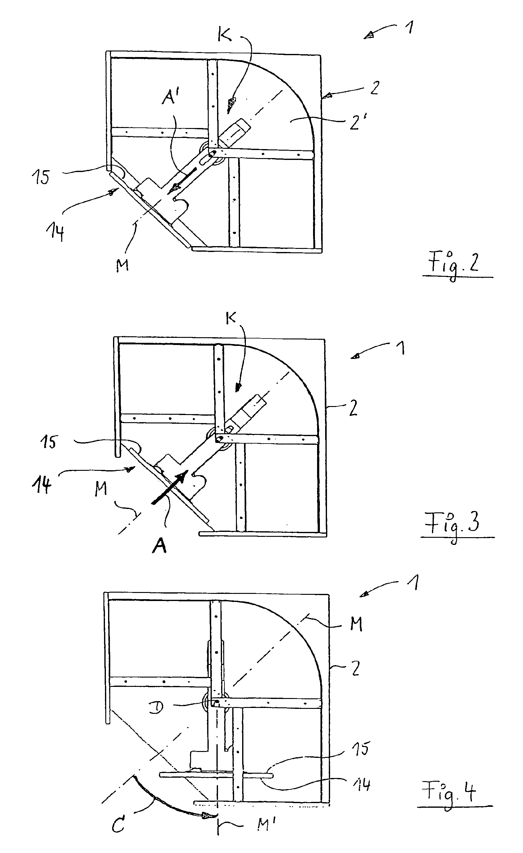 Patente EP1712153B1 - Eckschrank, insbesondere Kücheneckschrank ... | {Kücheneckschrank 5}