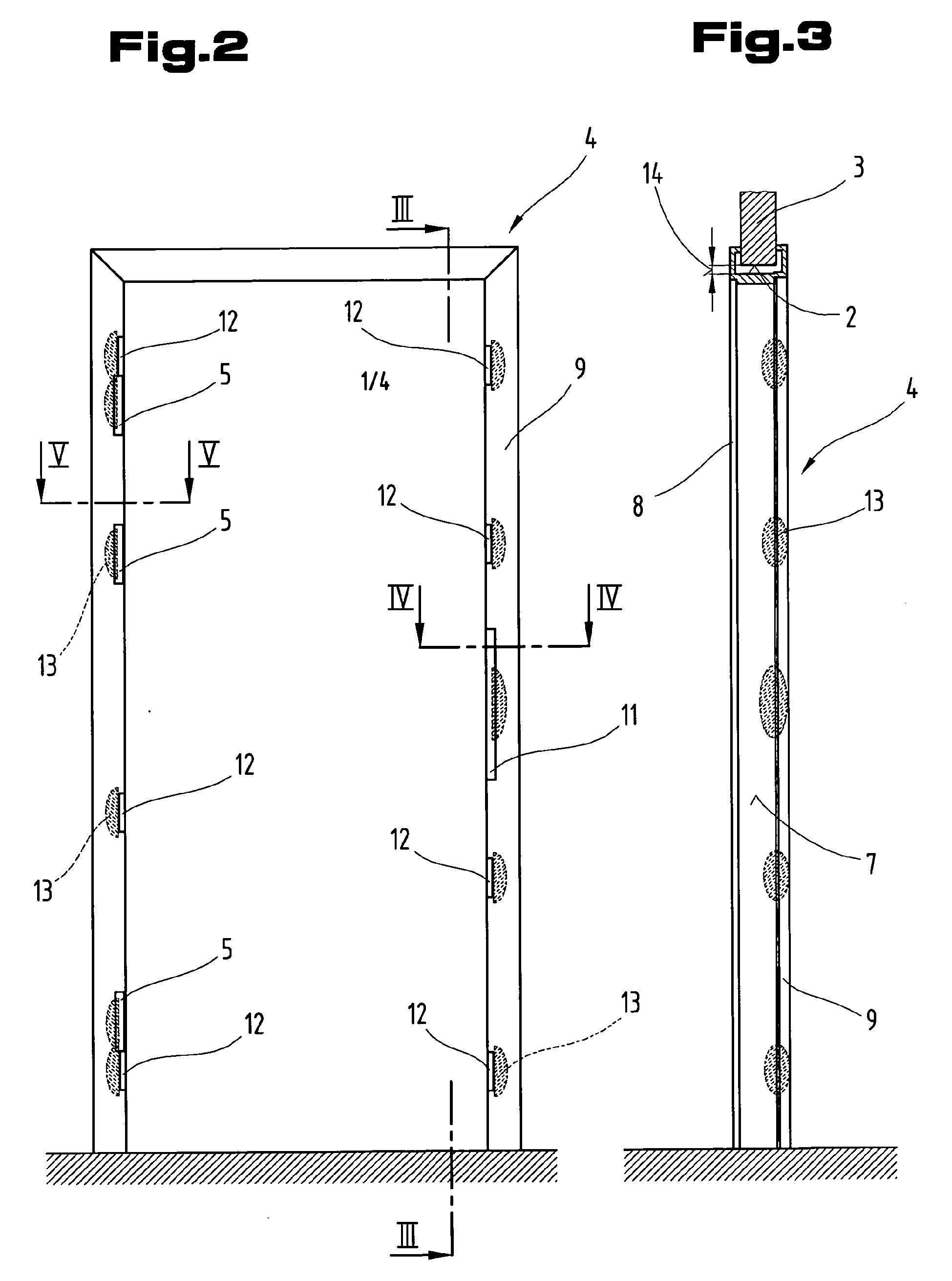 Stahlzarge maße  Patent EP1715130A2 - Rahmenelement, insbesondere Sicherheitszarge ...