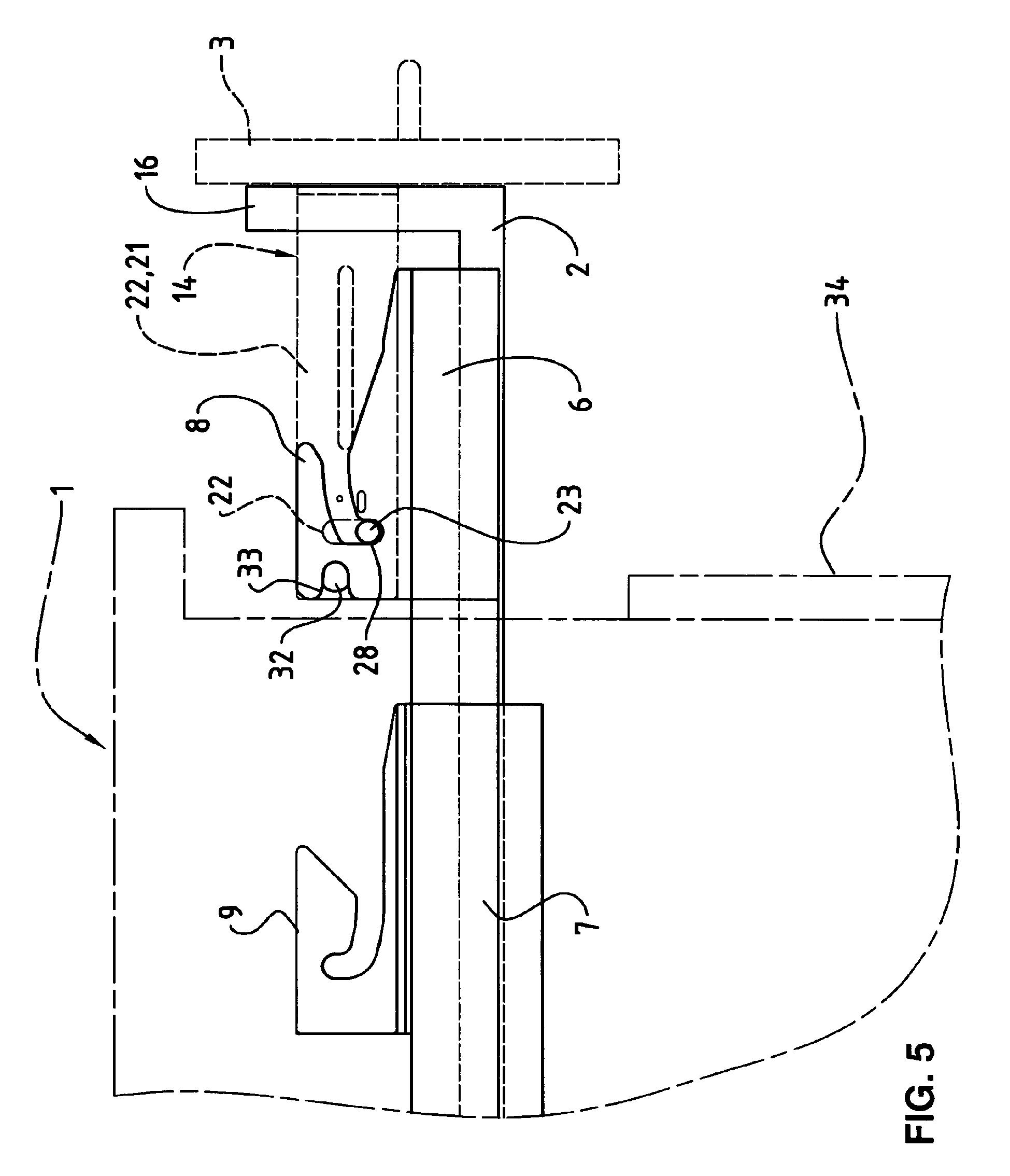 patent ep1716778b1 schublade f r einen freistehenden korpus welche beidseitig ausziehbar ist. Black Bedroom Furniture Sets. Home Design Ideas