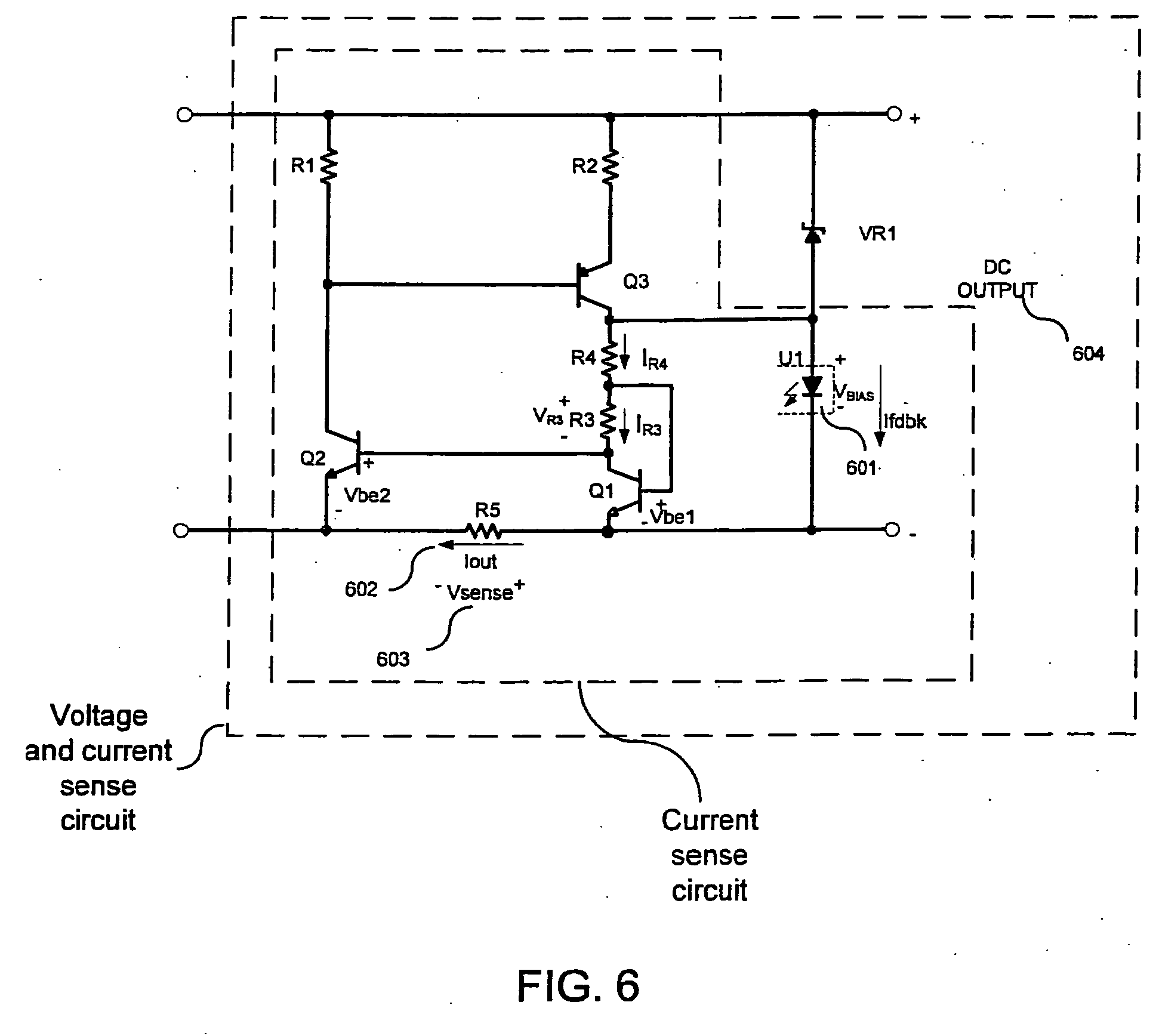 patent ep1720230a1 - power supply with current sensing circuit