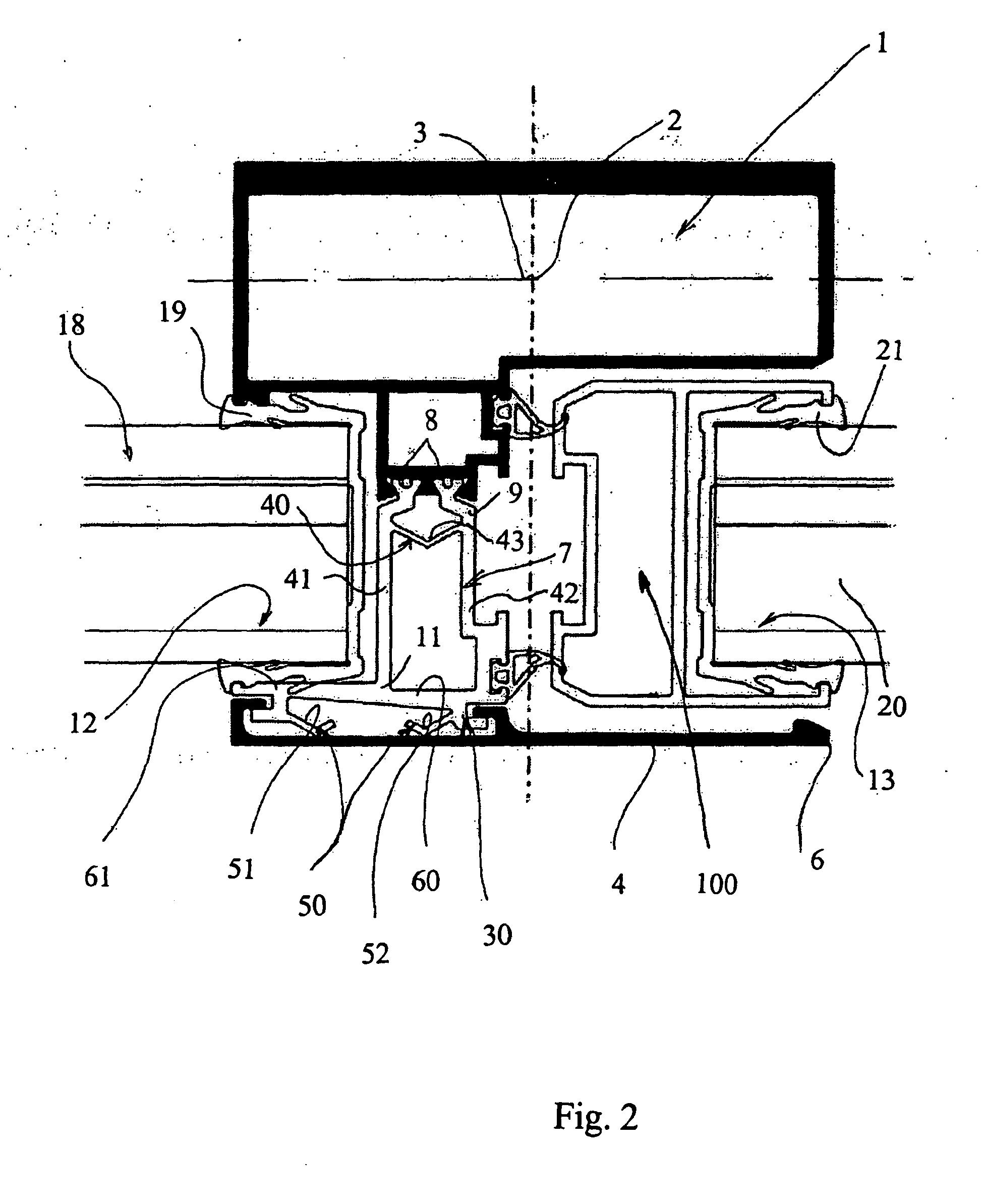 Patent ep1772580b1 montant pour cadre de fermeture pour for Fermeture de porte fenetre