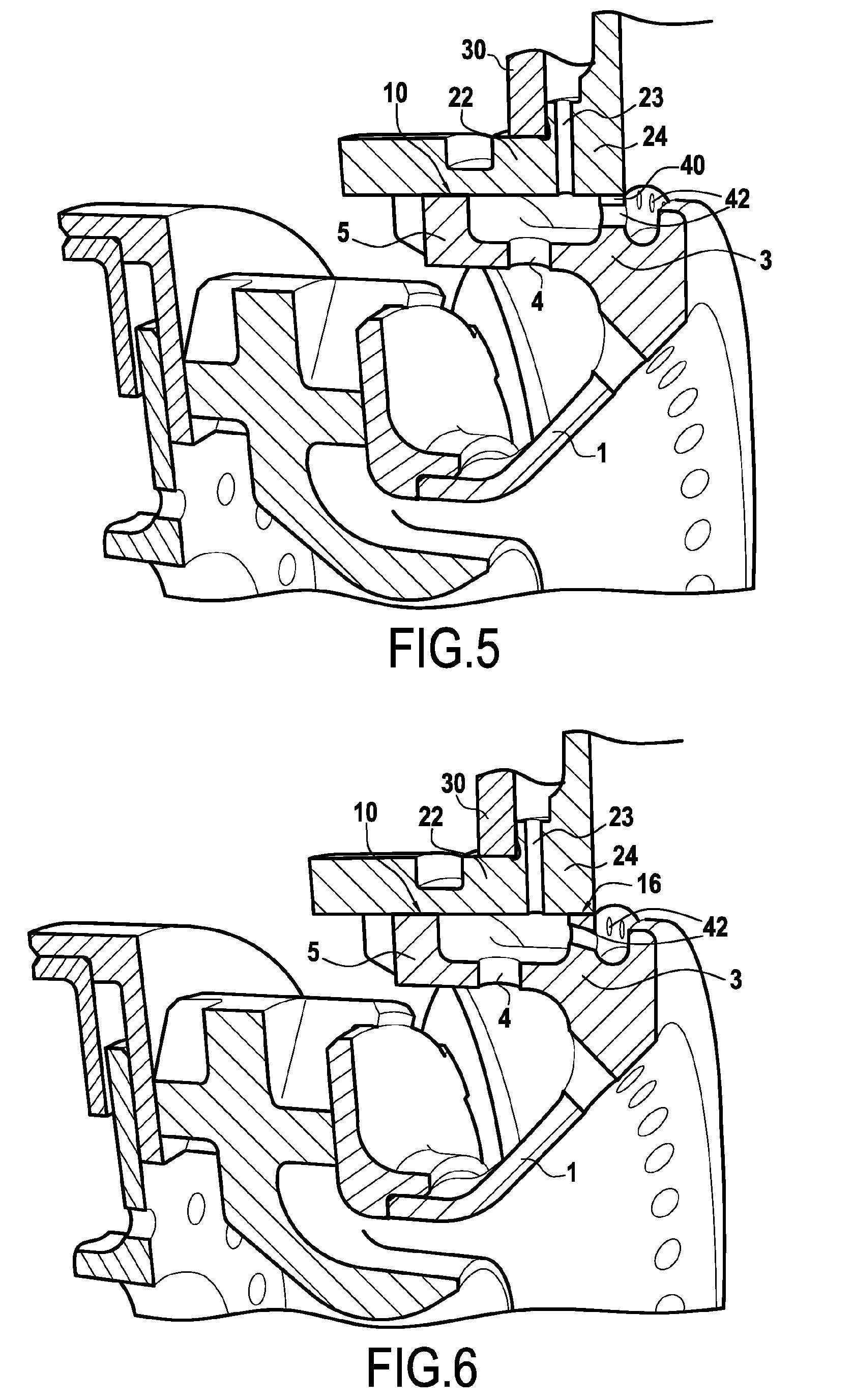 Patent ep1785671a1 fond de chambre de combustion avec for Chambre de combustion annulaire