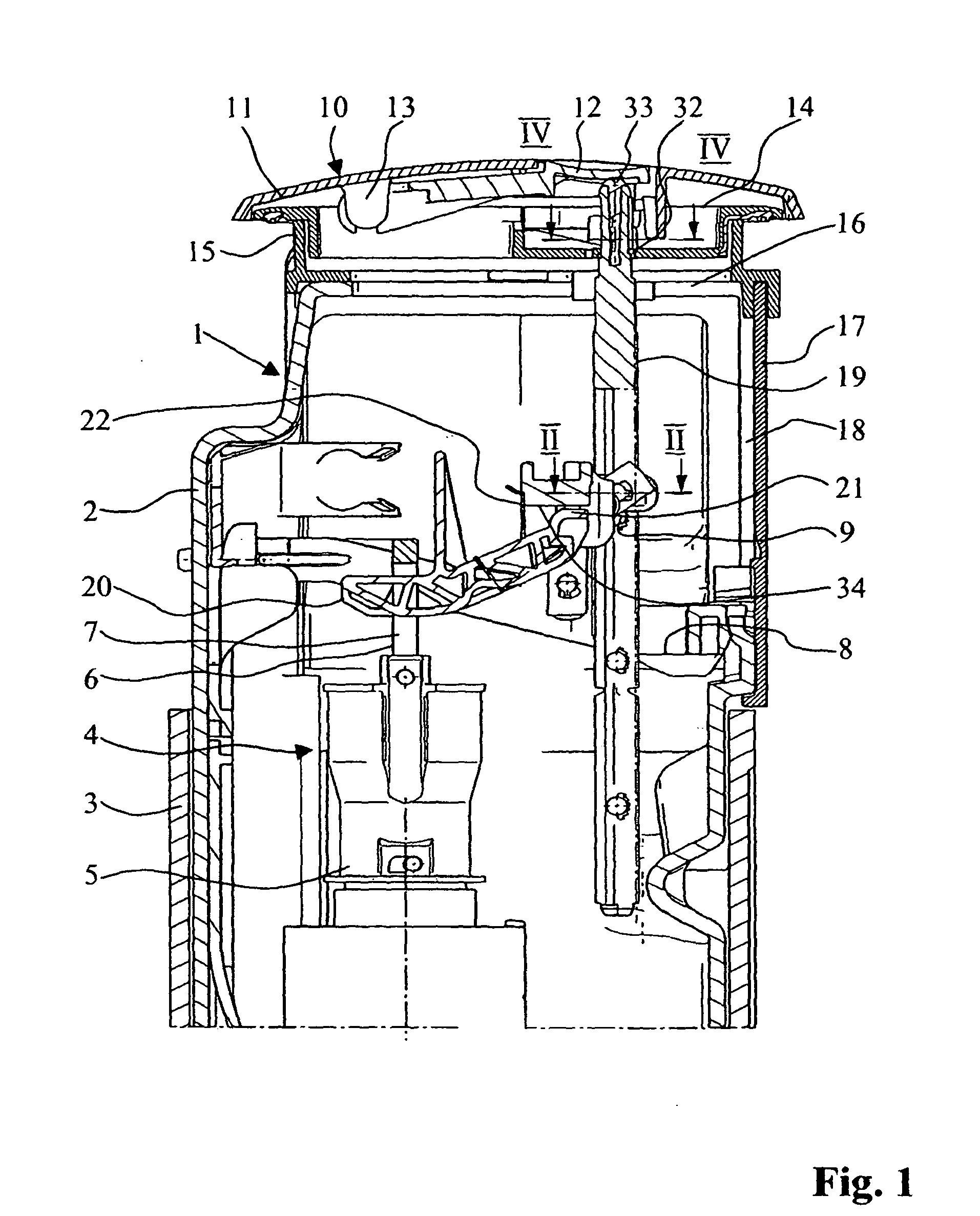 patent ep1795662b1 vorrichtung zur bet tigung des ablaufventils eines sp lkastens google patents. Black Bedroom Furniture Sets. Home Design Ideas