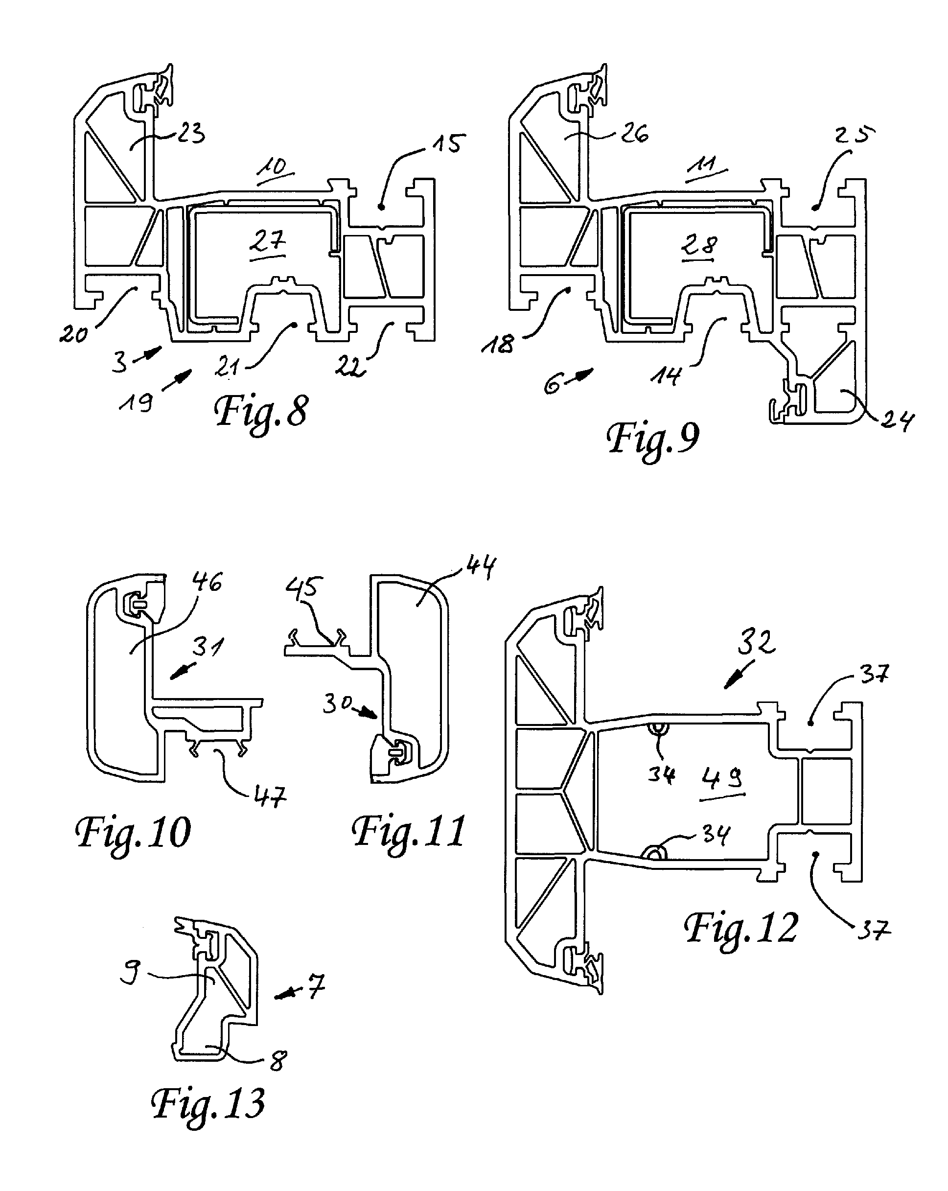 Patent ep1801342a1 kunststoff profilsystem f r ein for Fenetre pvc dwg
