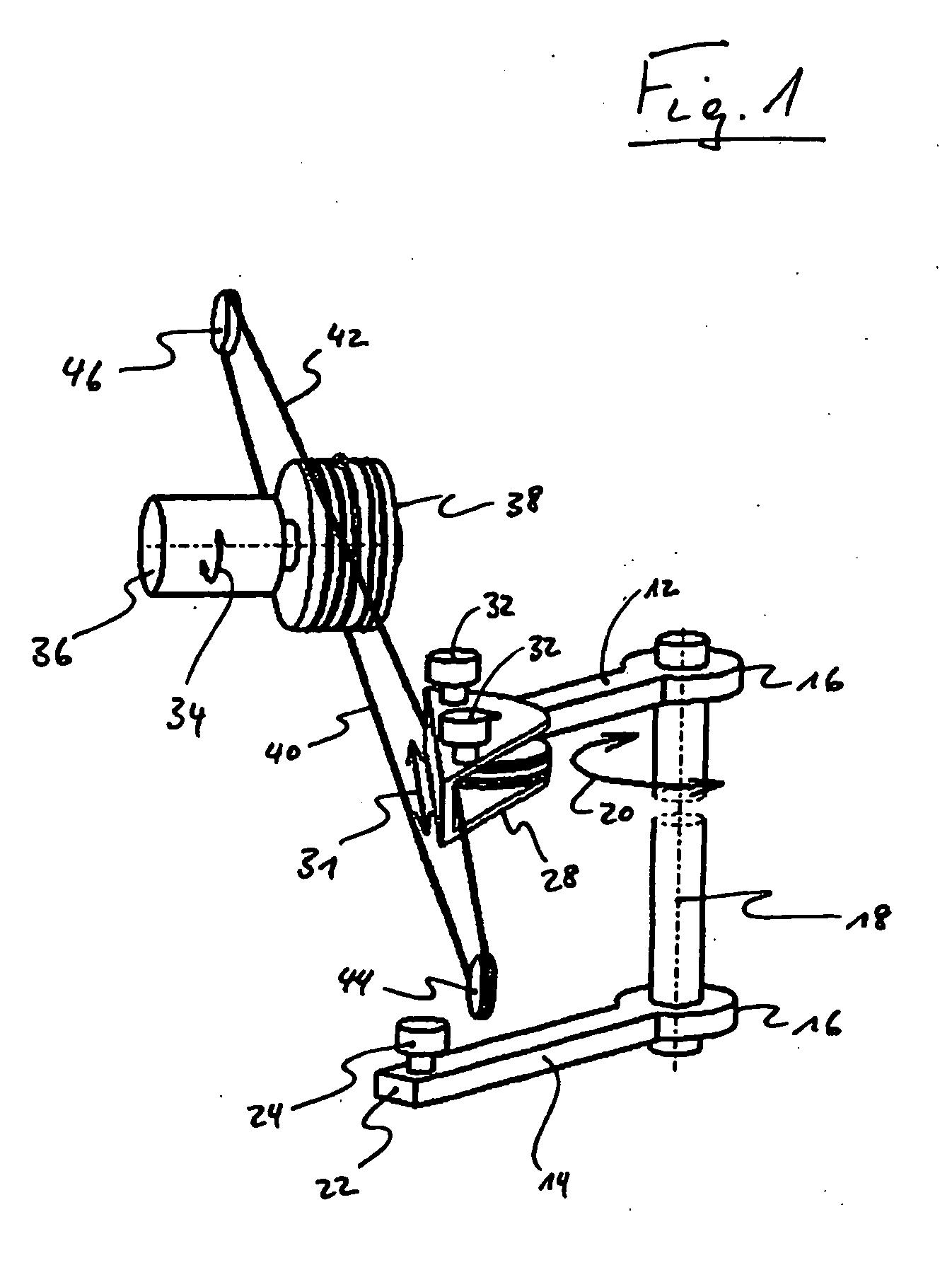 Patent ep1813759b1 dispositif pour d placer une porte for Mecanisme porte pivotante