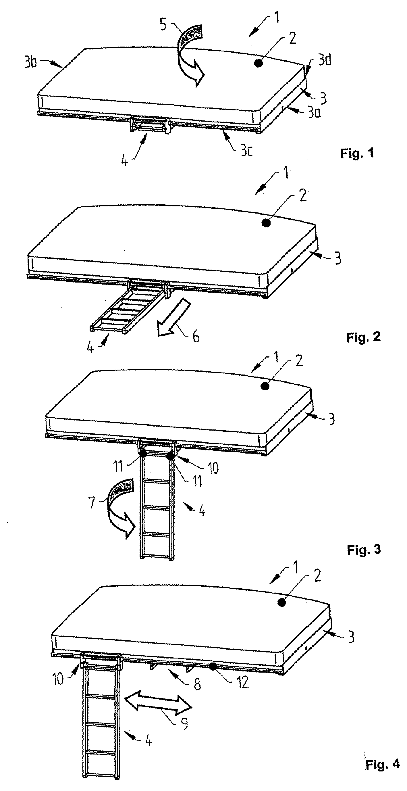 Patent EP1842720A2 - Bunk bed ladder for vehicles - Google Patents