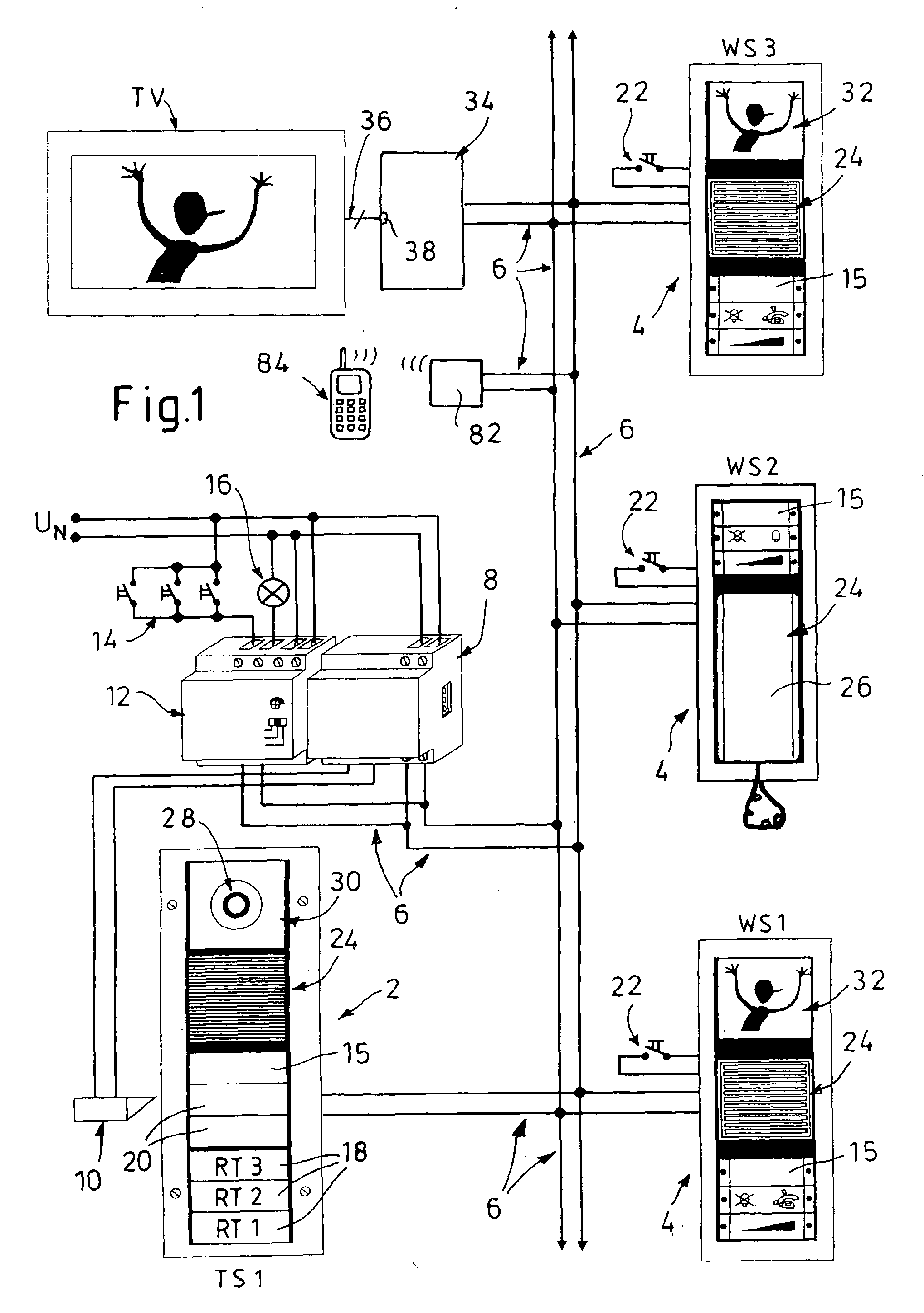 patent ep1850596a1 - domestic intercom system with video transmission
