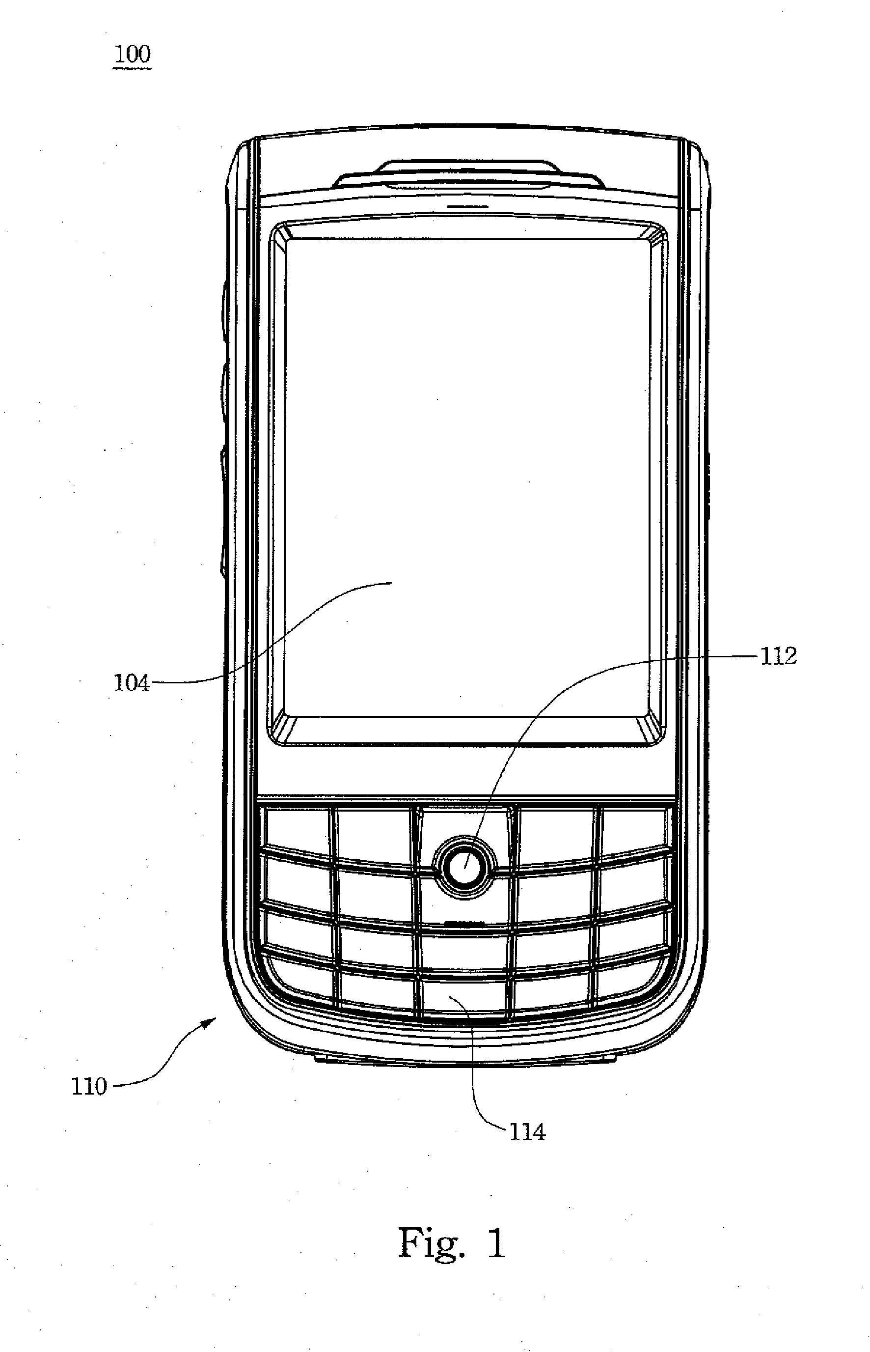 patent ep1865692a2 - mobile phone keypad