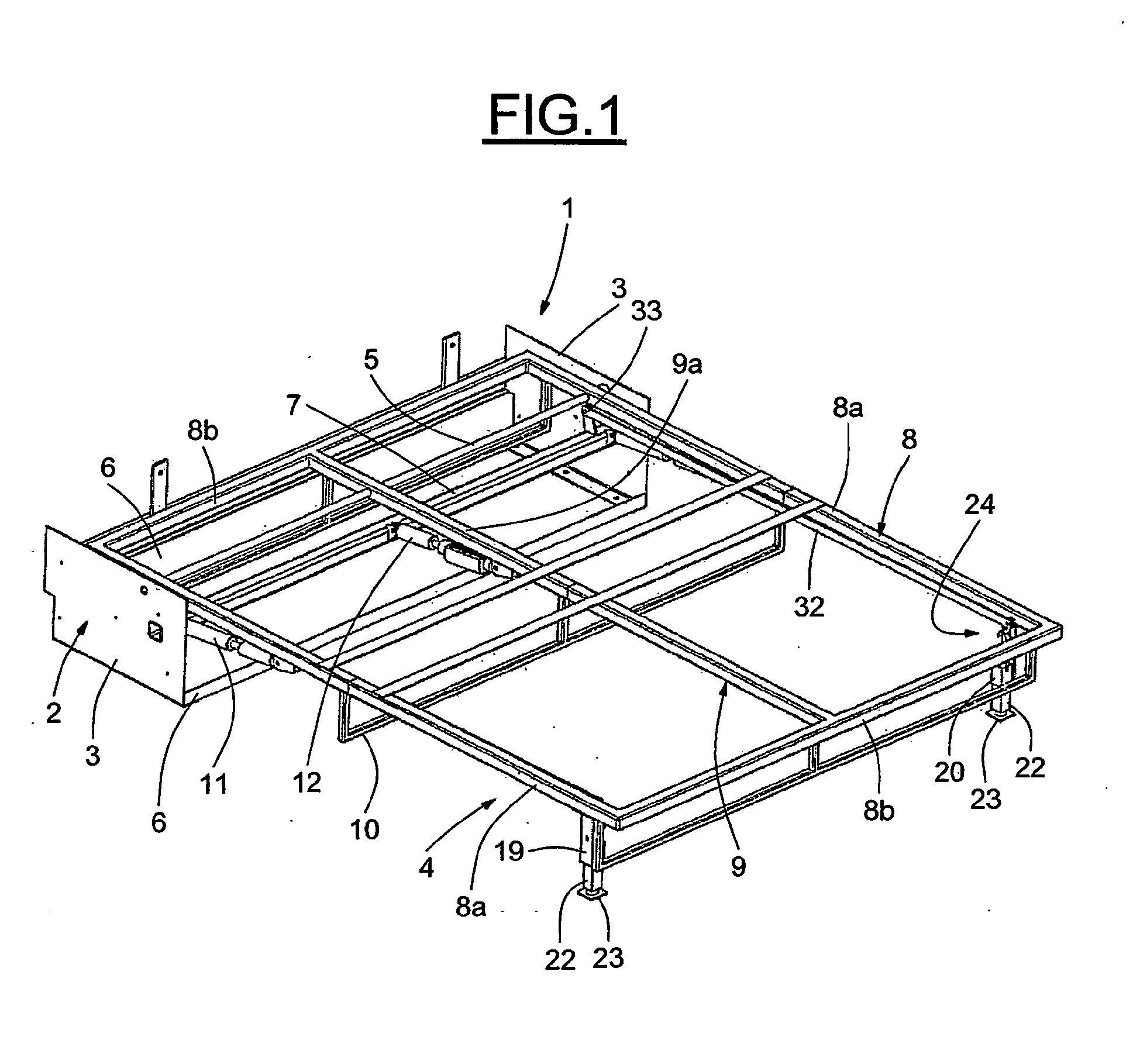 Patent ep1871199b1 structure de meuble tel que lit - Pied de lit escamotable ...