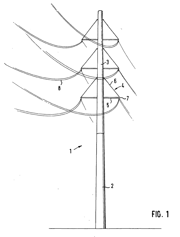 patent ep1873331a2 - overhead circuit pylon made of spun concrete