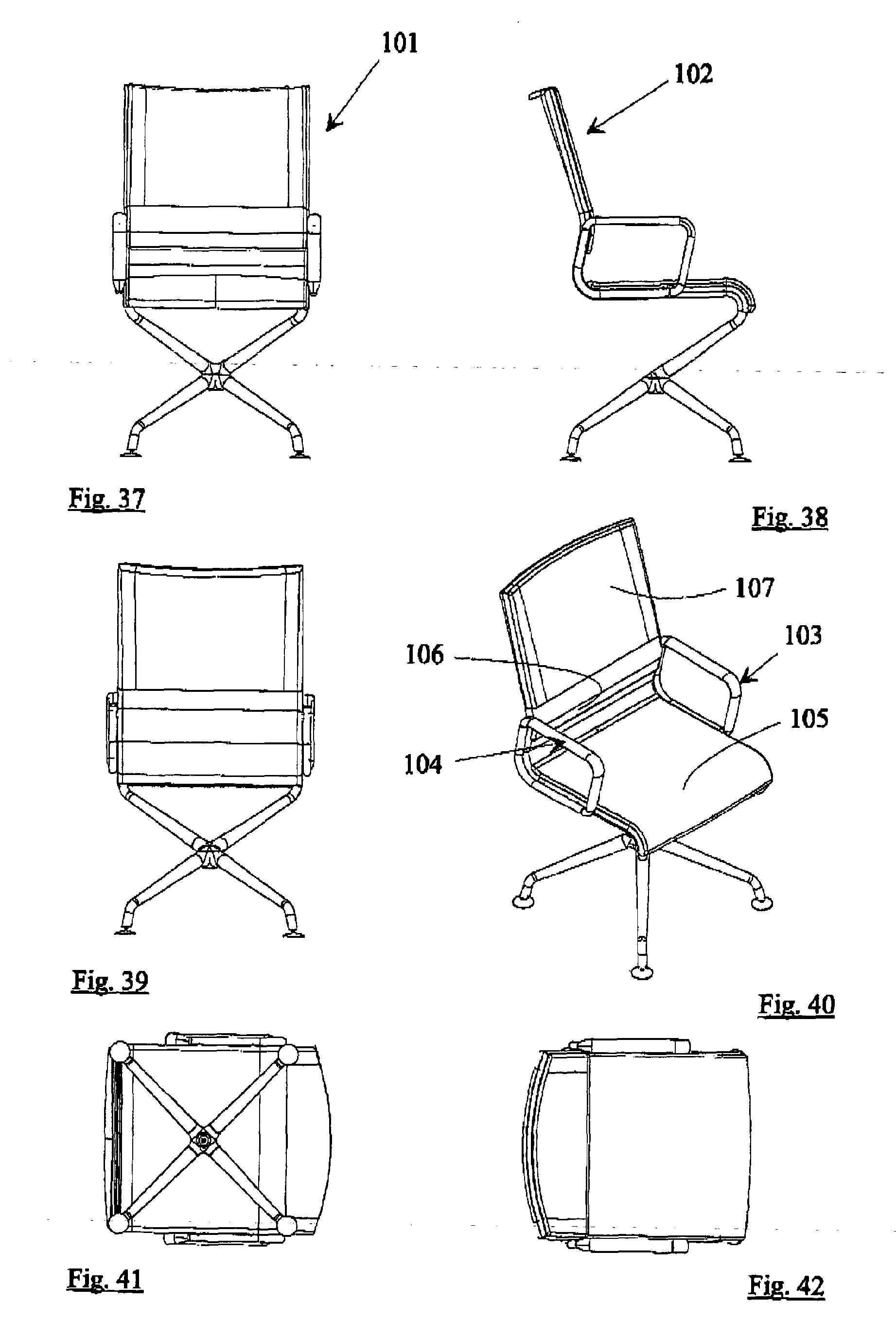 Bürostuhl skizze  Patent EP1880639A1 - Sitzmöbel, insbesondere Stuhl - Google Patents