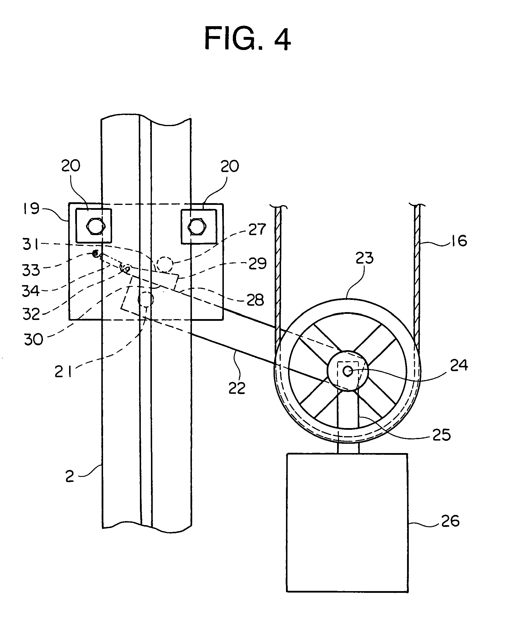 Rope And Pulley Elevator : Patent ep a tension pulley device for elevator