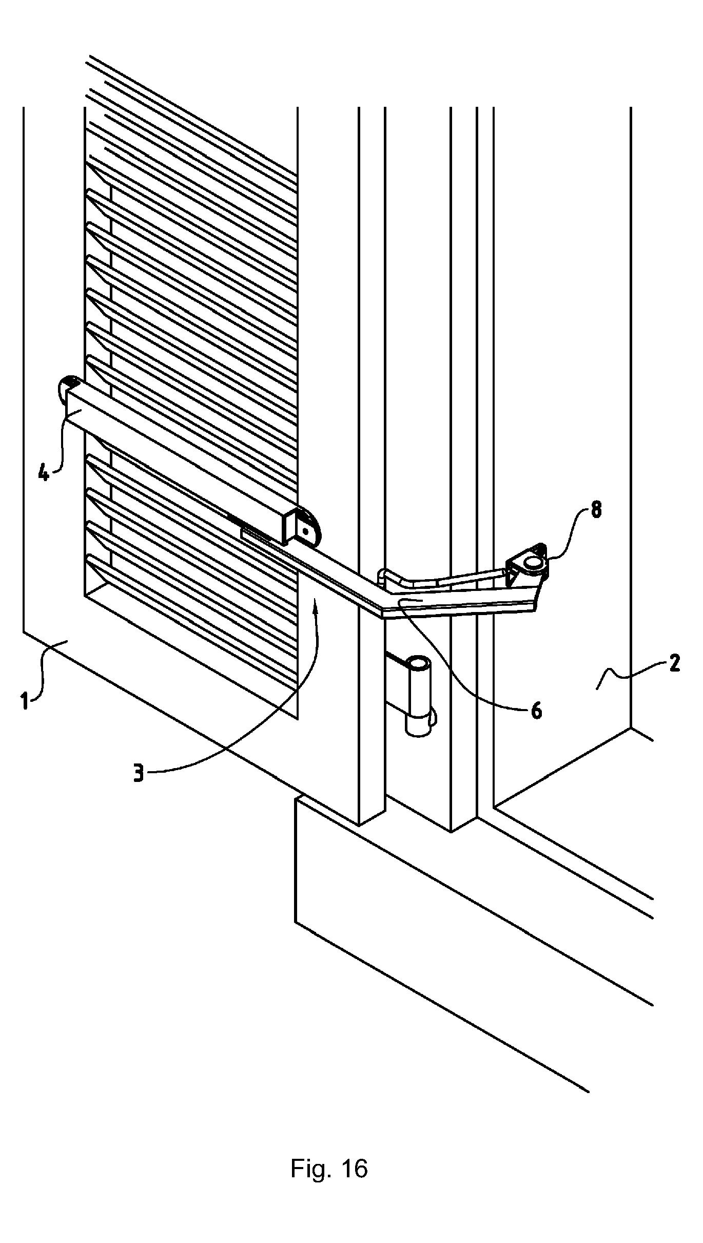 patent ep1905929a1 vorrichtung zur arretierung eines fensterladens google patents. Black Bedroom Furniture Sets. Home Design Ideas