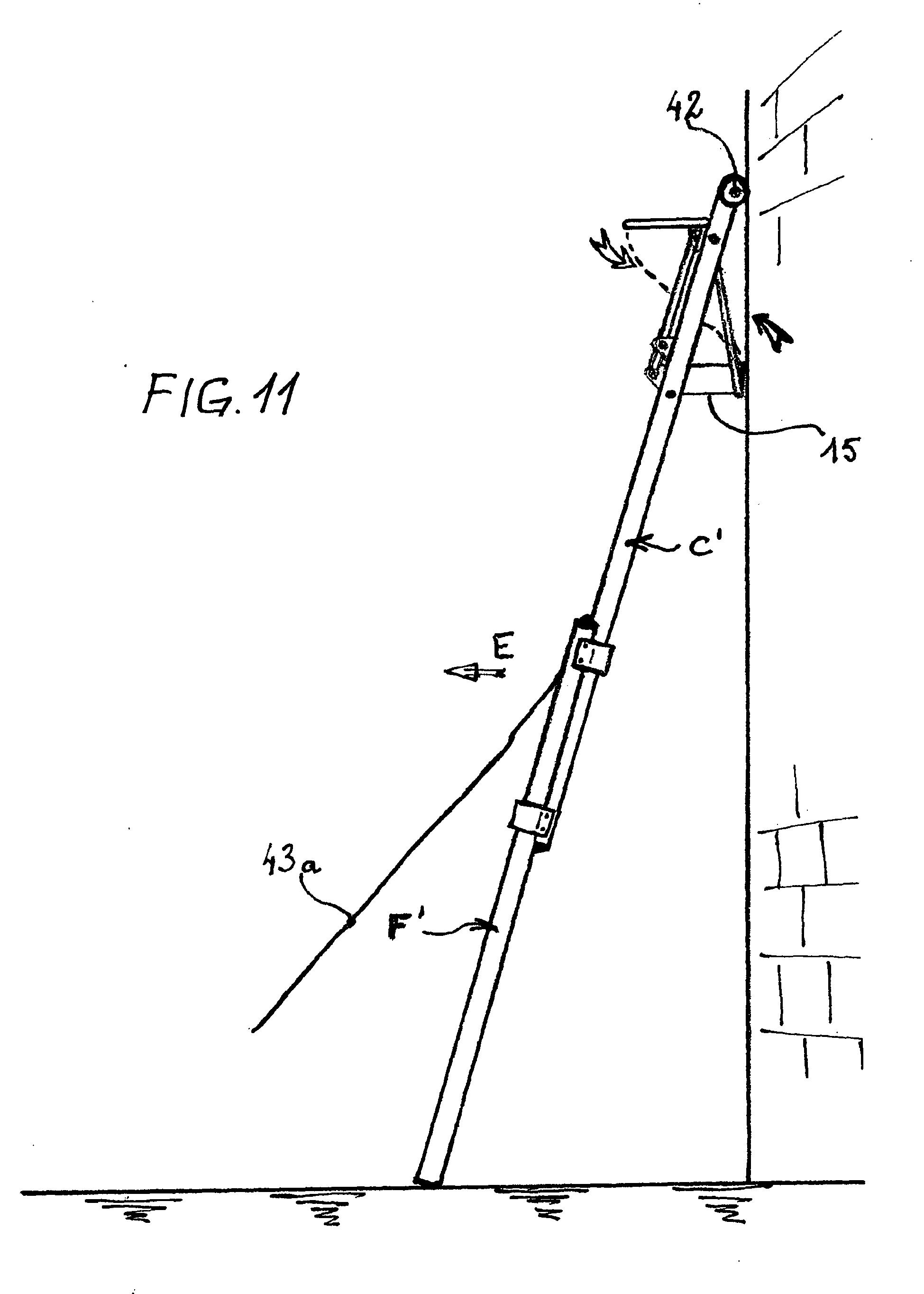 patent ep1914378a1 echelle coulissante de s curit pour travail grande hauteur google patents. Black Bedroom Furniture Sets. Home Design Ideas