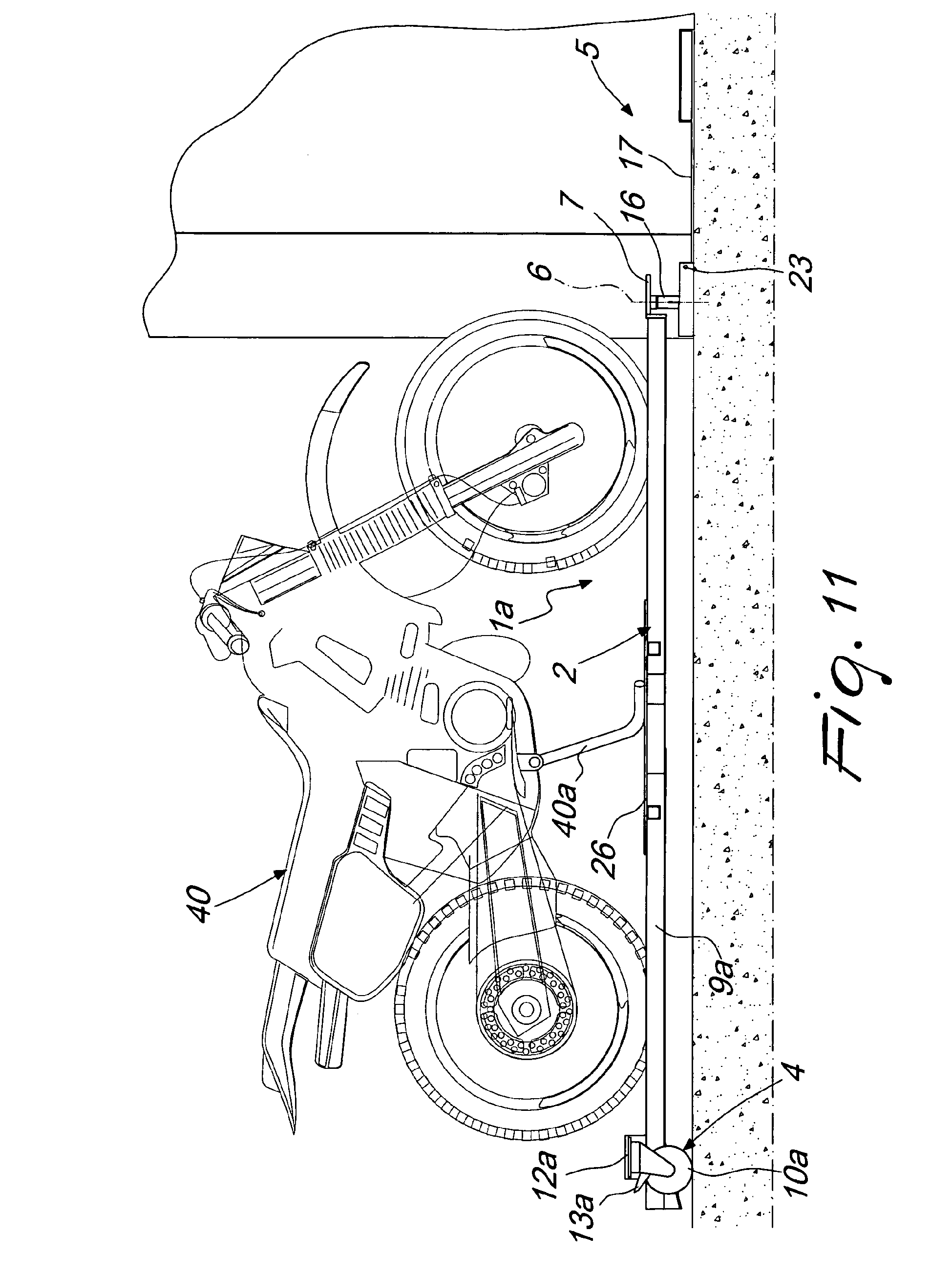 Motorcycle Parking Space : Patent ep a device for facilitating the parking