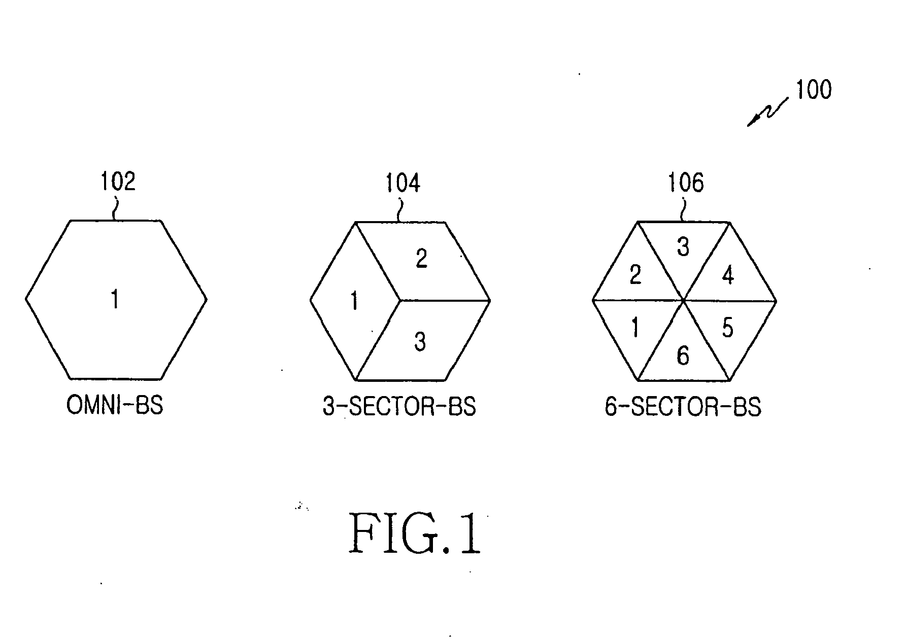 Patent EP1919233A2 - Flexible sectorization in wireless ...