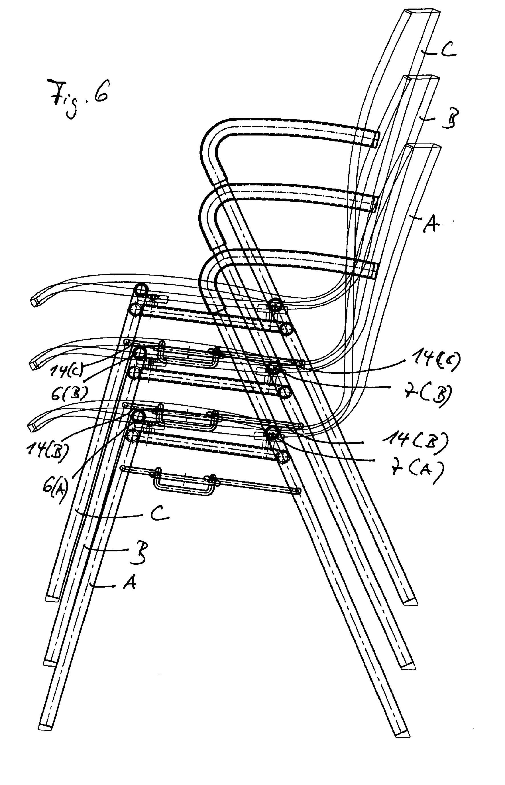 Patent ep1949819a1 stuhl f r reihenbestuhlung google for Stuhl design dwg