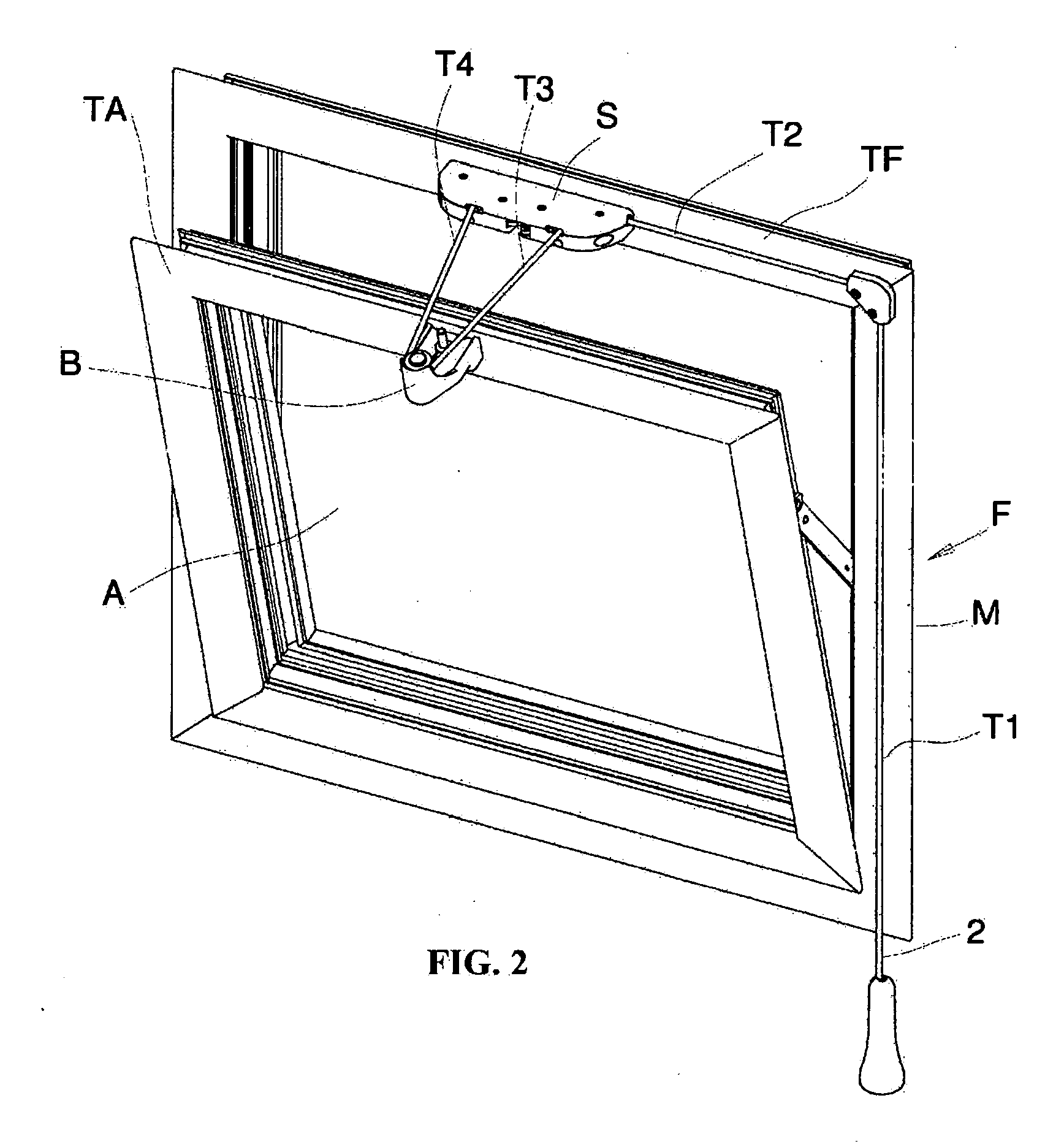 Patent ep1953320b1 dispositif utilis pour ouvrir et for Vasistas fenetre