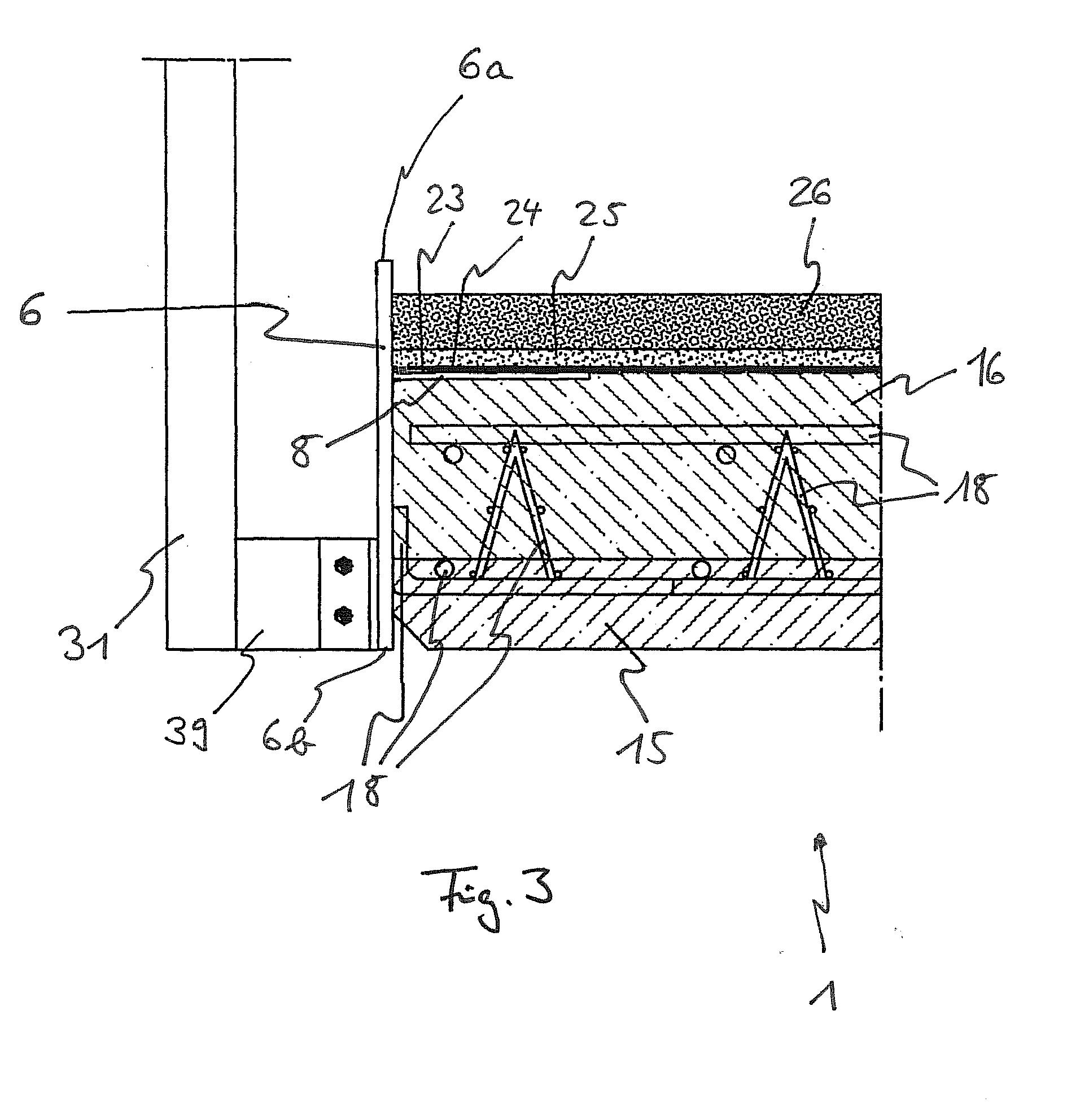 patente ep1980675a1 zarge f r einen balkon oder eine. Black Bedroom Furniture Sets. Home Design Ideas