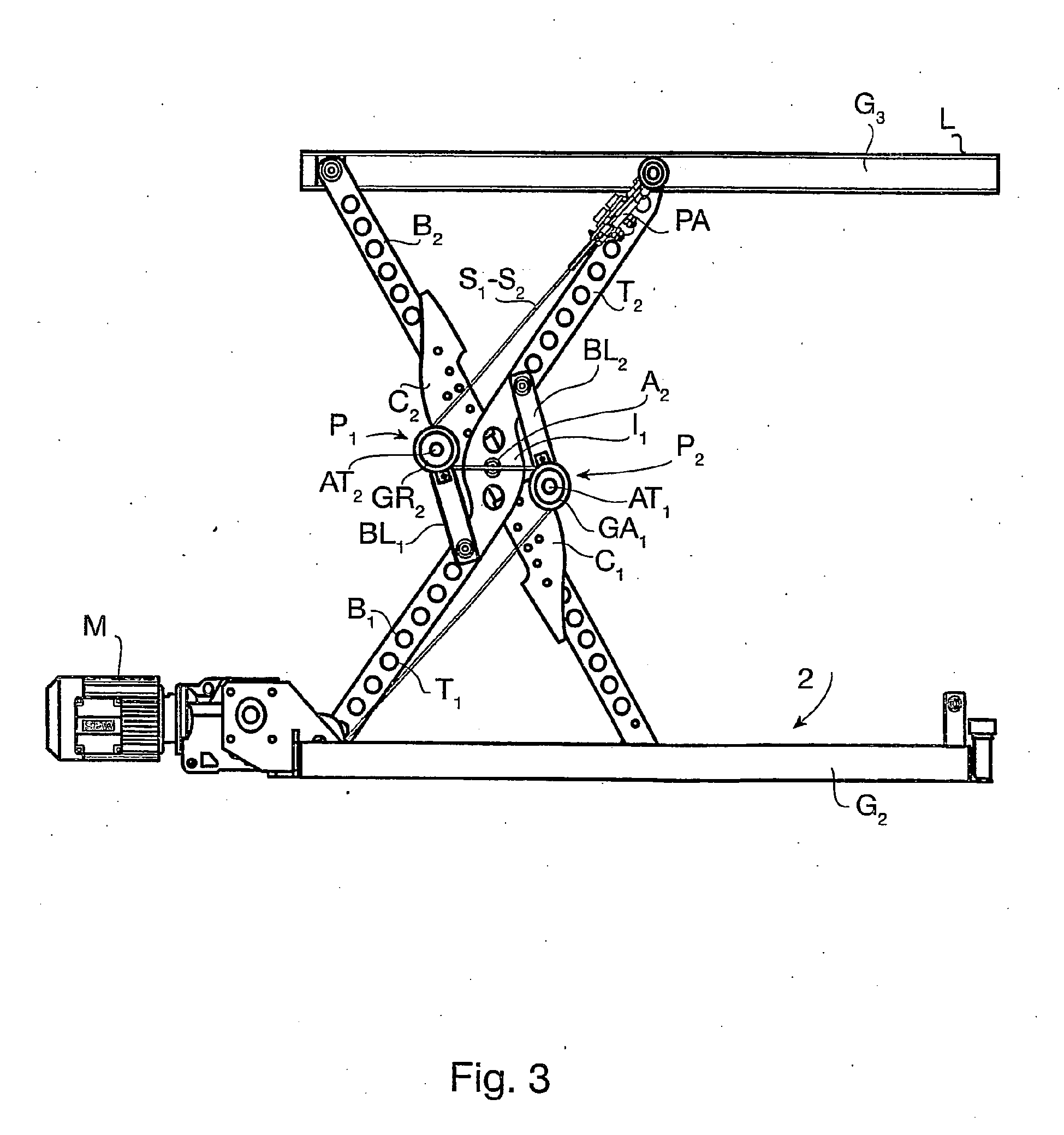 Patent ep1981801b1 lift table with hinged legs google for Table elevatrice