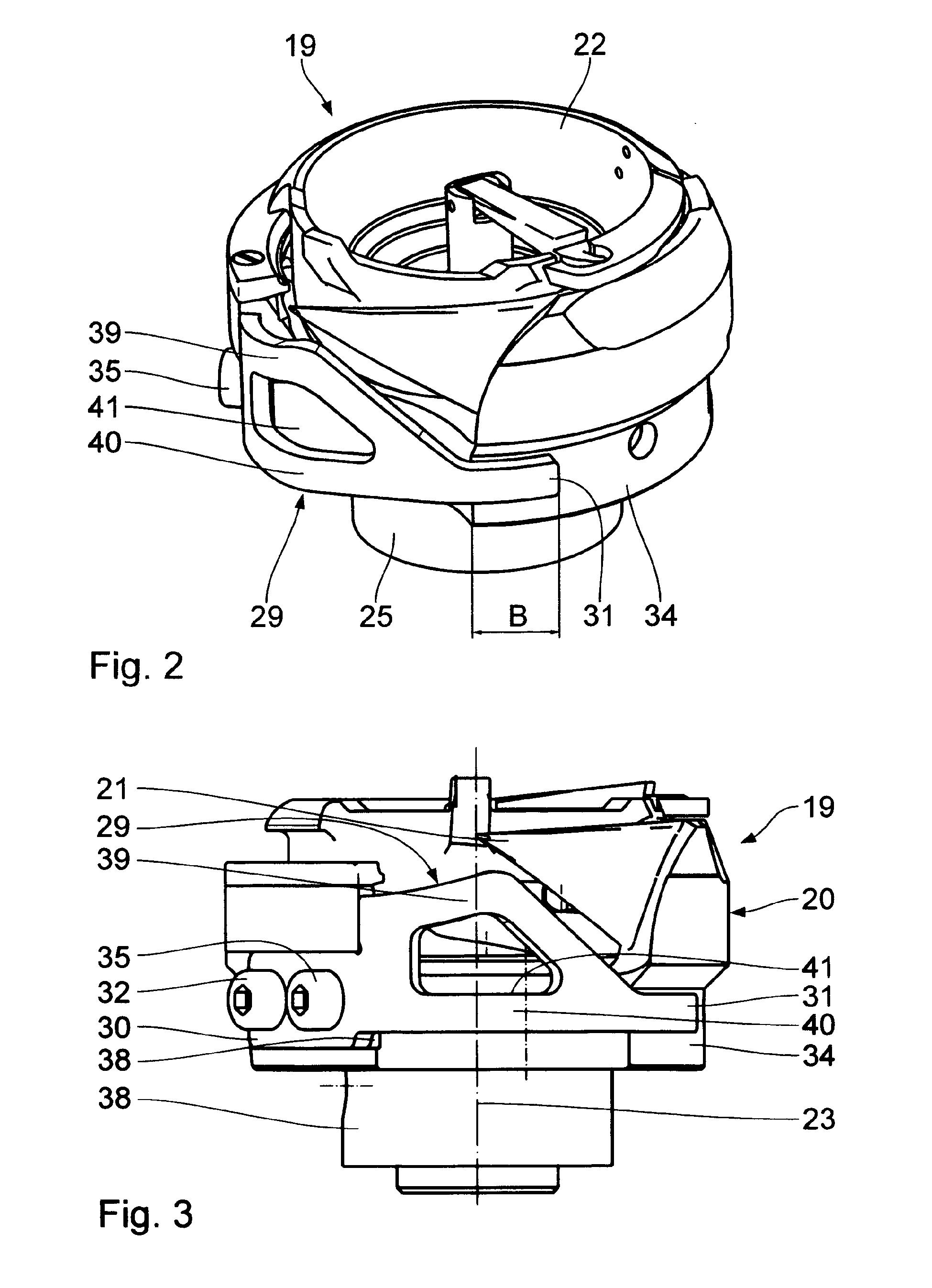 Patent EP1992727A1  Nähmaschine, Greifer für eine
