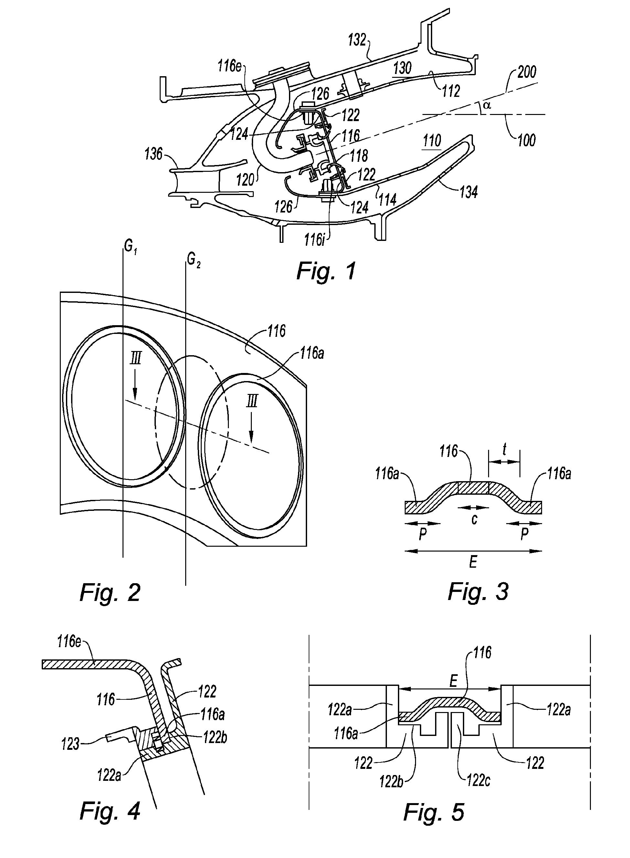 Patent ep2040001a2 chambre de combustion annulaire de for Chambre de combustion moteur