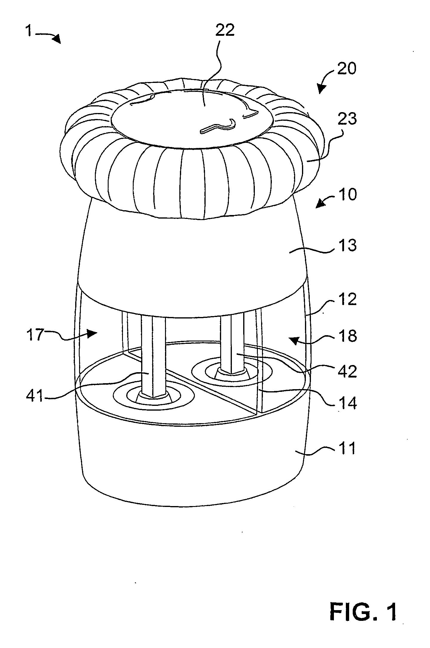 patent ep2040592b1 kombinierte salz und pfefferm hle. Black Bedroom Furniture Sets. Home Design Ideas