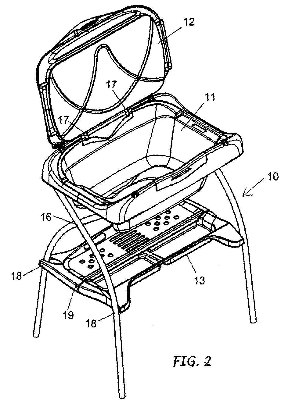 Patent EP2057920A1 - Folding supporting frame for baby changing ...