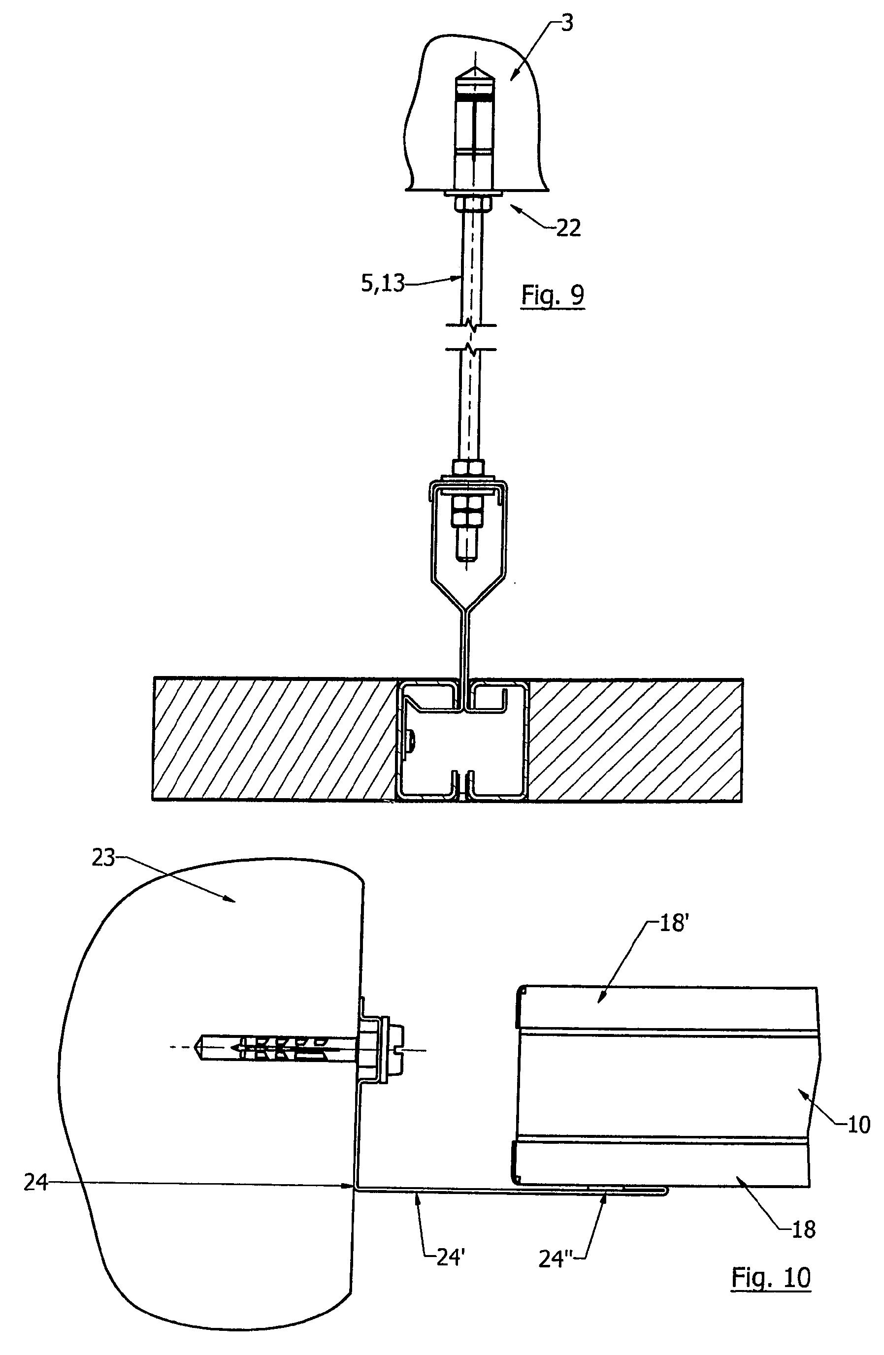 Patent ep2090708a1 dispositif de plafond suspendu circulable et proc d de r alisation d 39 un - Coupe et section dessin technique ...