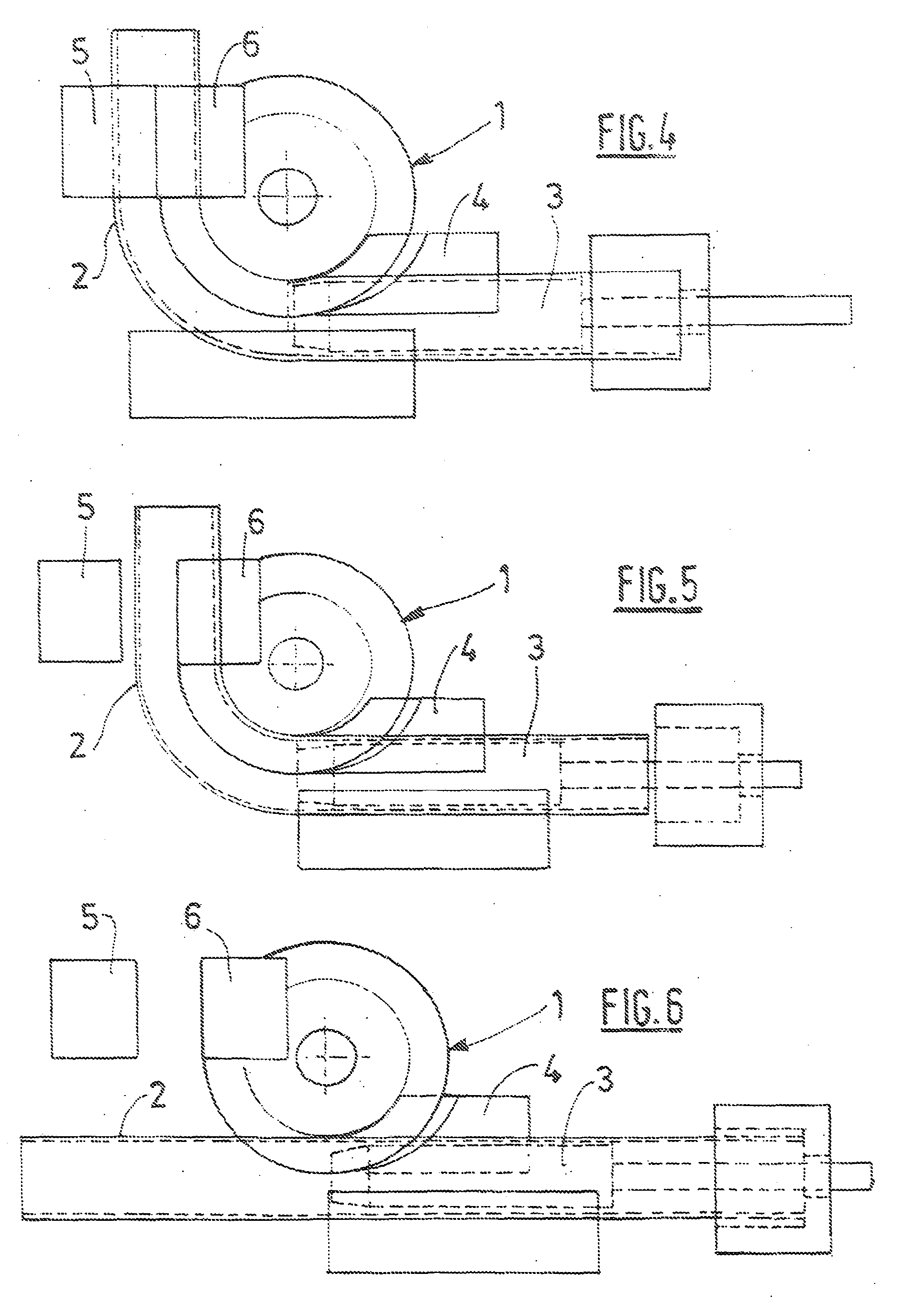 patent ep2106306b1 dispositif pour cintrer un tube metallique par enroulement sur un galet de. Black Bedroom Furniture Sets. Home Design Ideas