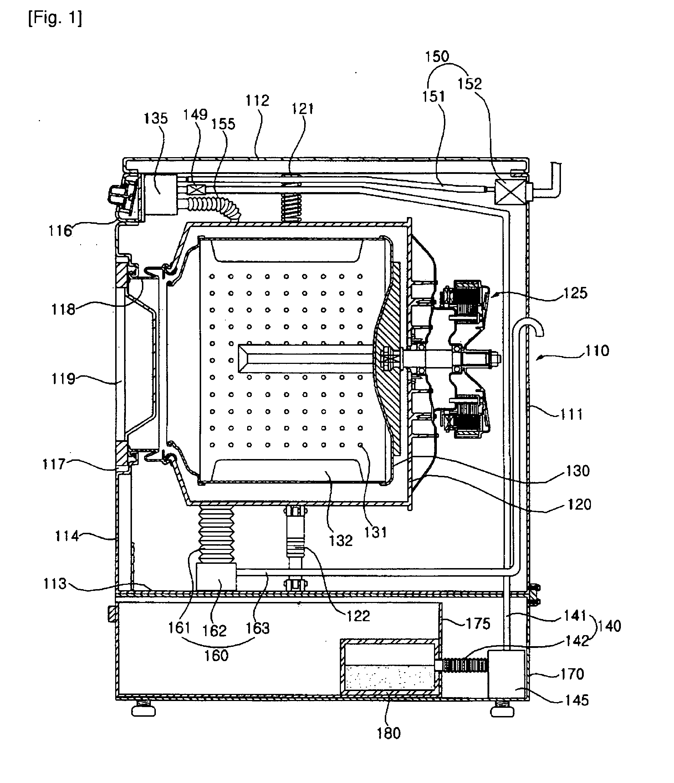 Washing Machine Drawing ~ Patent ep b washing machine google patents
