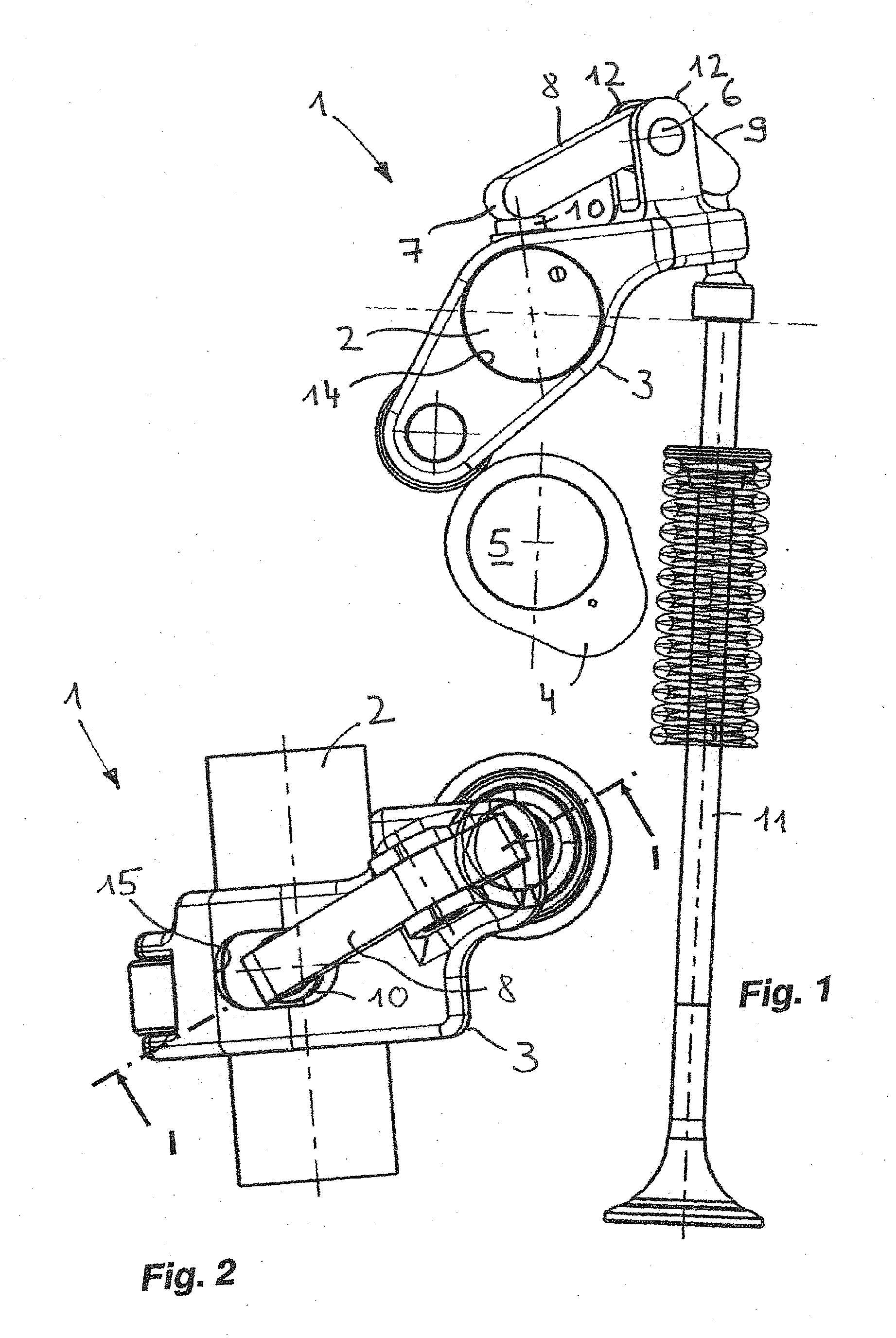 Combustion Engine Lever : Patent ep a valve drive for internal combustion