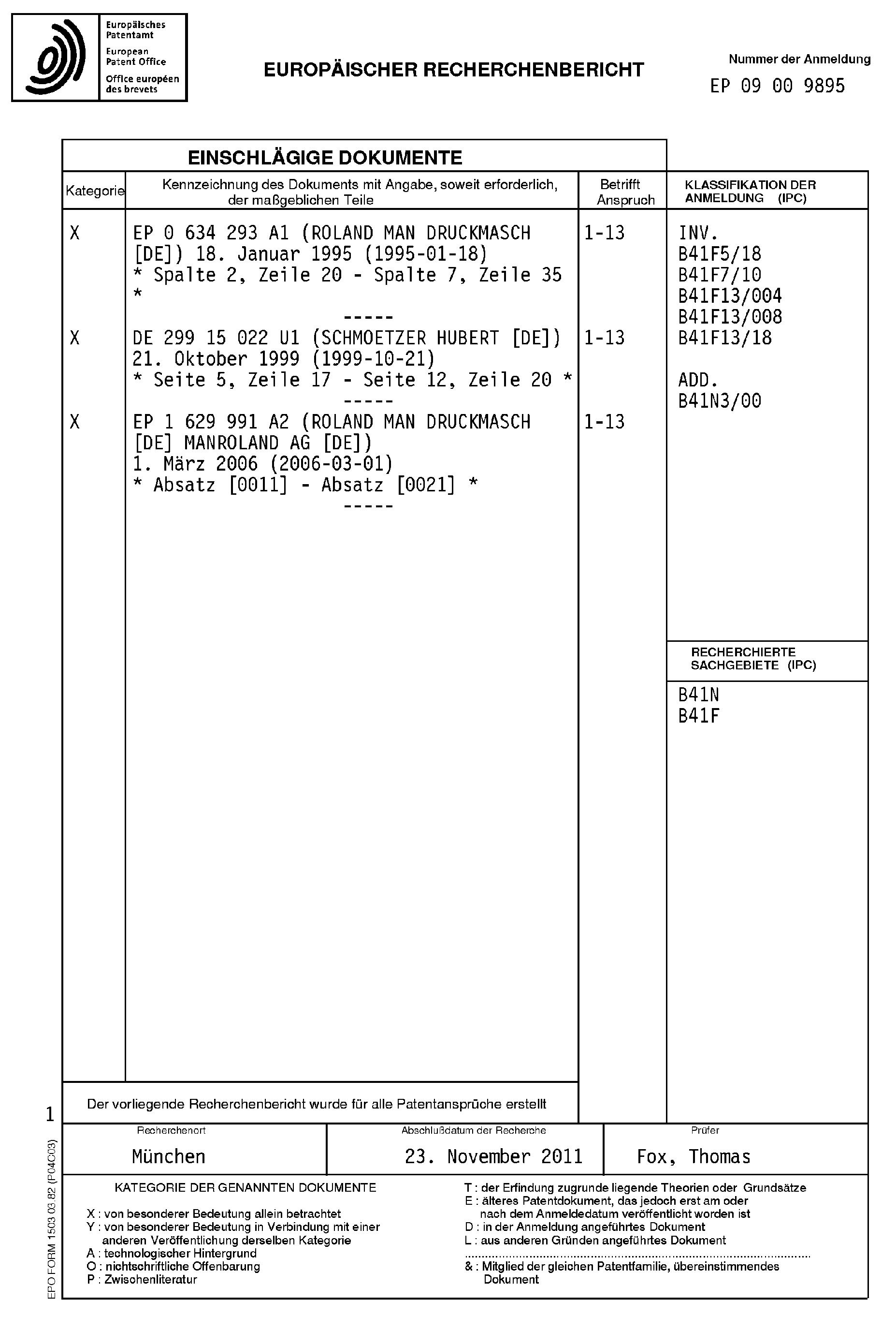 patent ep2159051a3 - verfahren zur wiederaufbereitung der