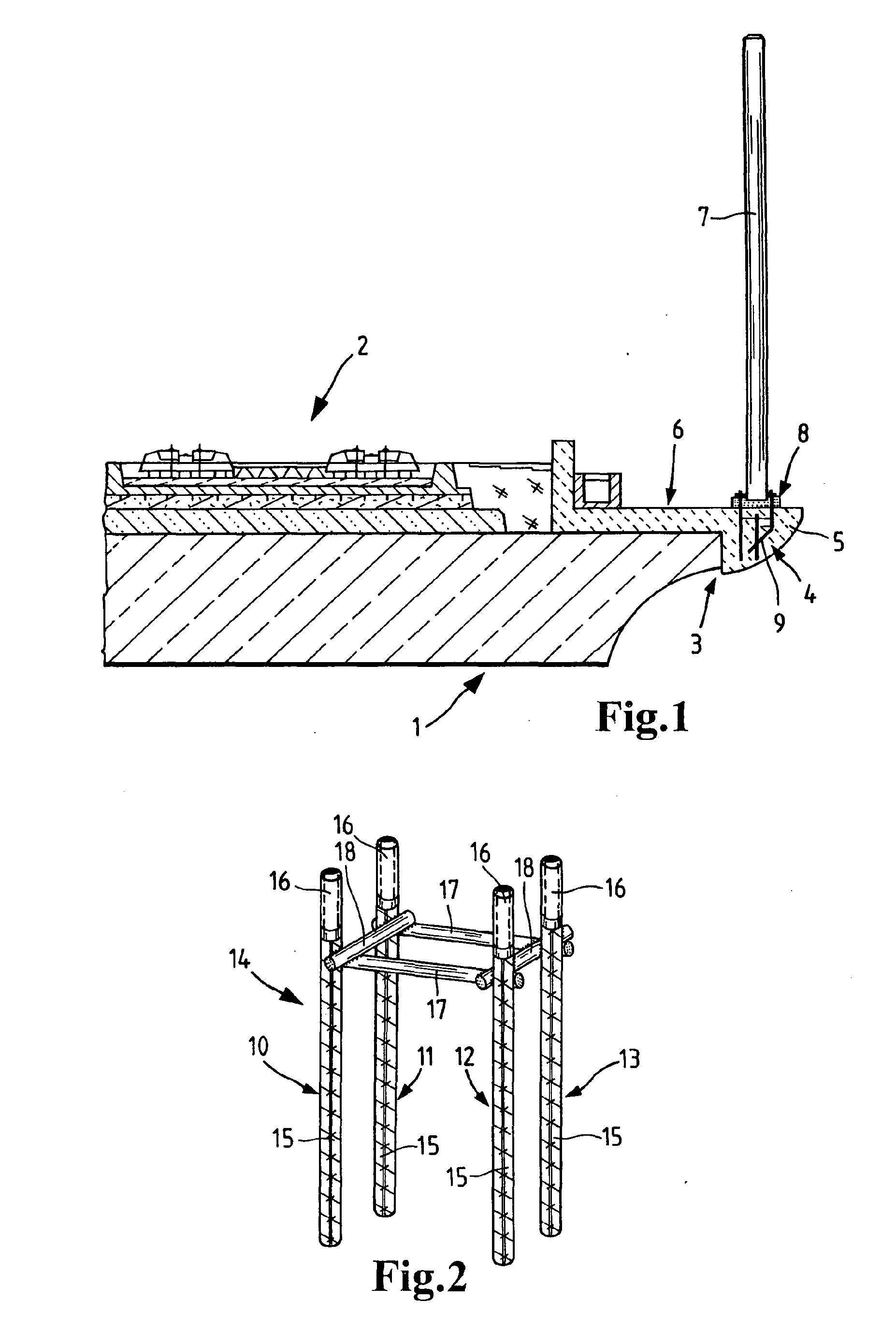 patent ep2159354a1 vorrichtung zur befestigung von pfosten f r schutzw nde google patents. Black Bedroom Furniture Sets. Home Design Ideas
