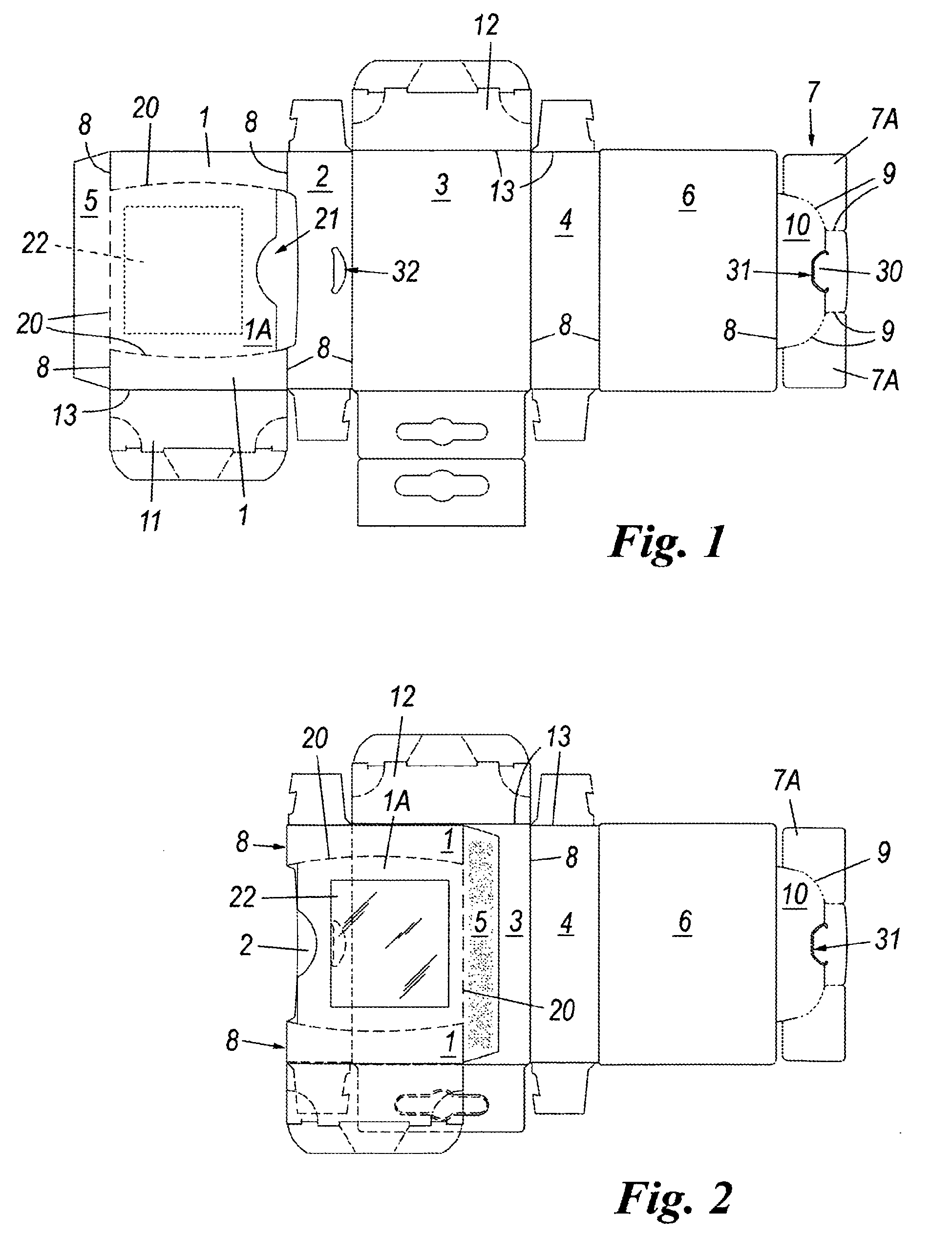 patent ep2174877b1 - kartonschachtel mit entfernbarem teil mit