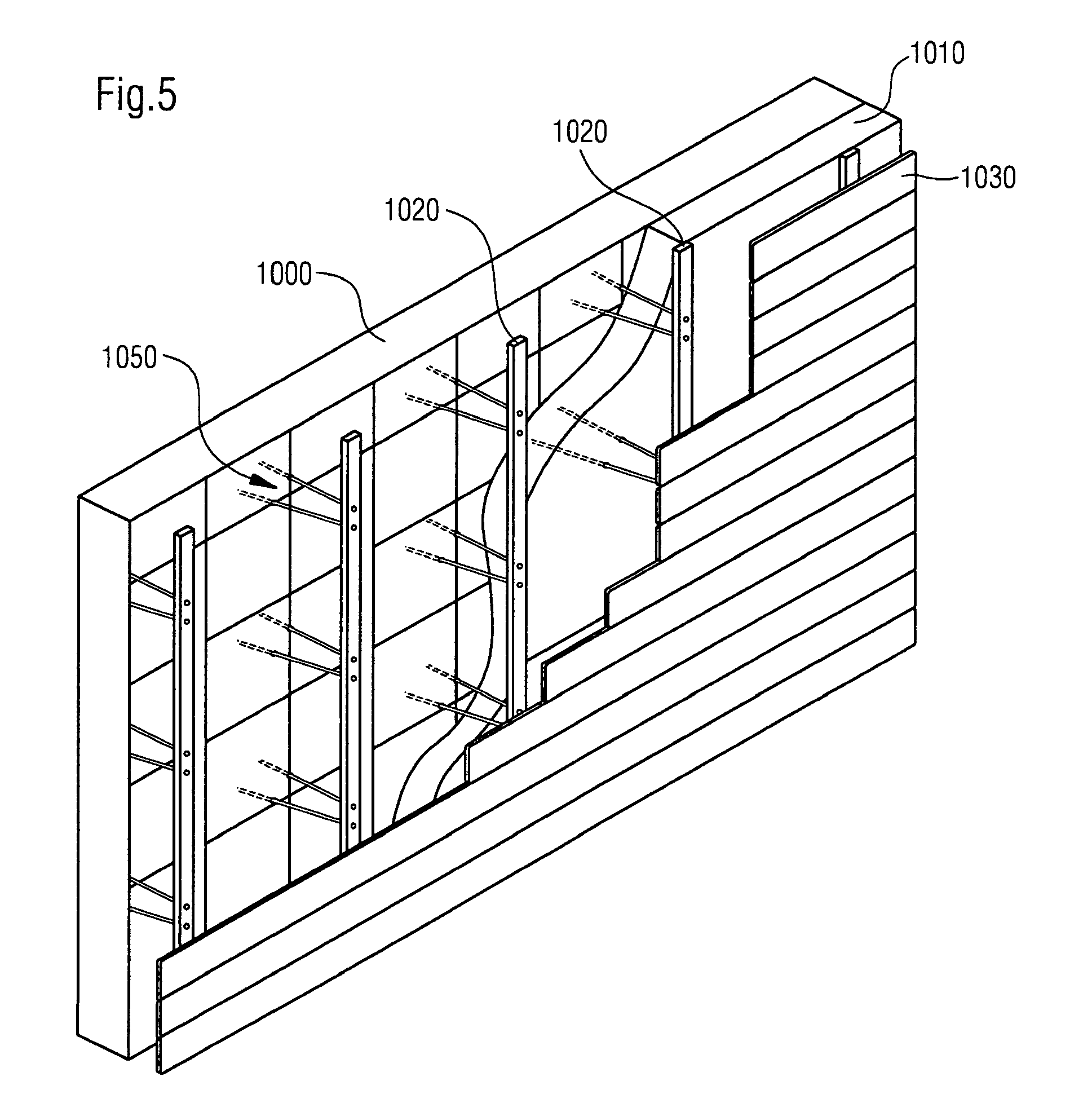 Abstand Kochinsel Zu Küchenzeile ~ patent ep2182125a2 verfahren zum befestigen von bauelementen in einem abstand zu einem bauteil