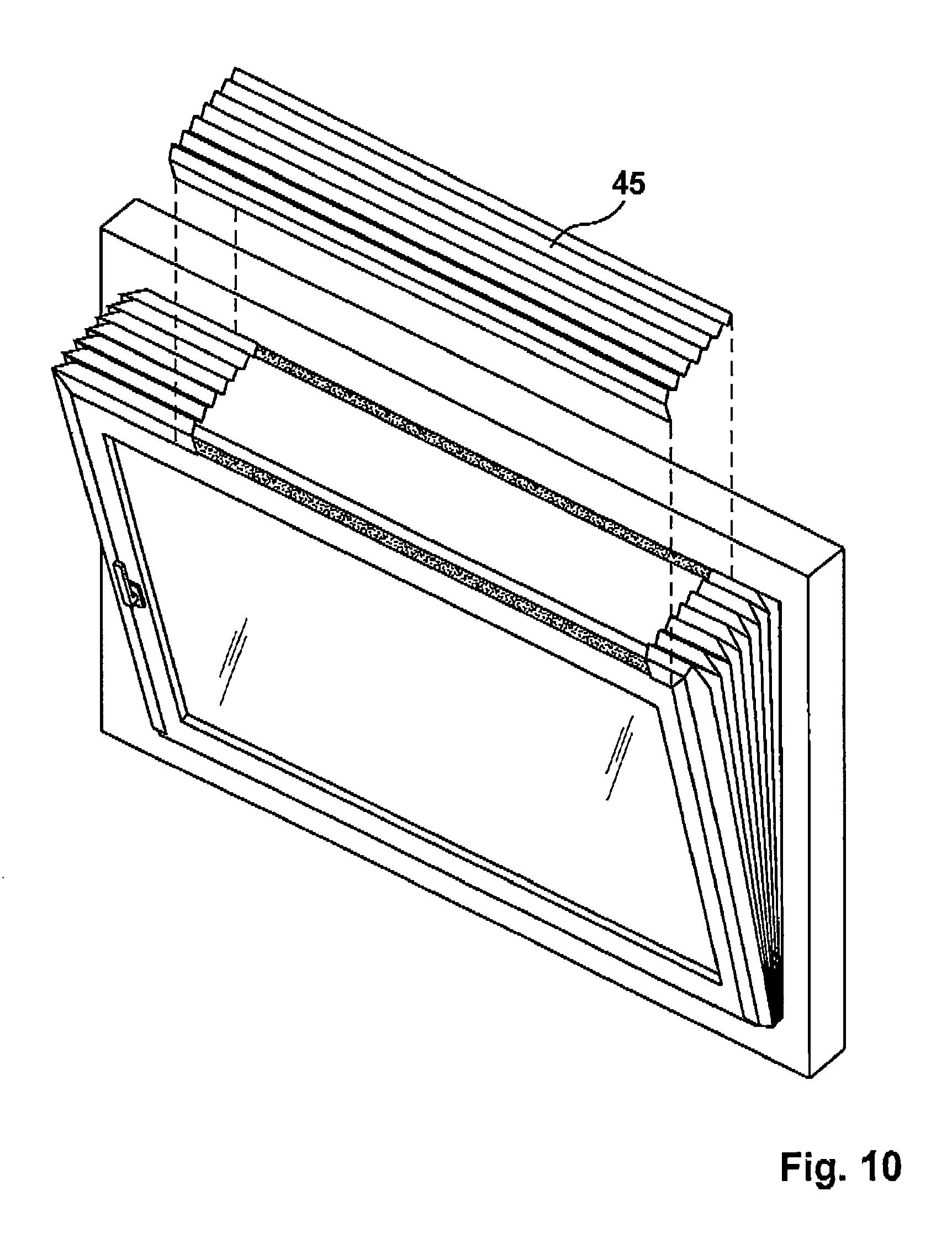 patent ep2199525a2 adeckung f r ein gekipptes oder. Black Bedroom Furniture Sets. Home Design Ideas