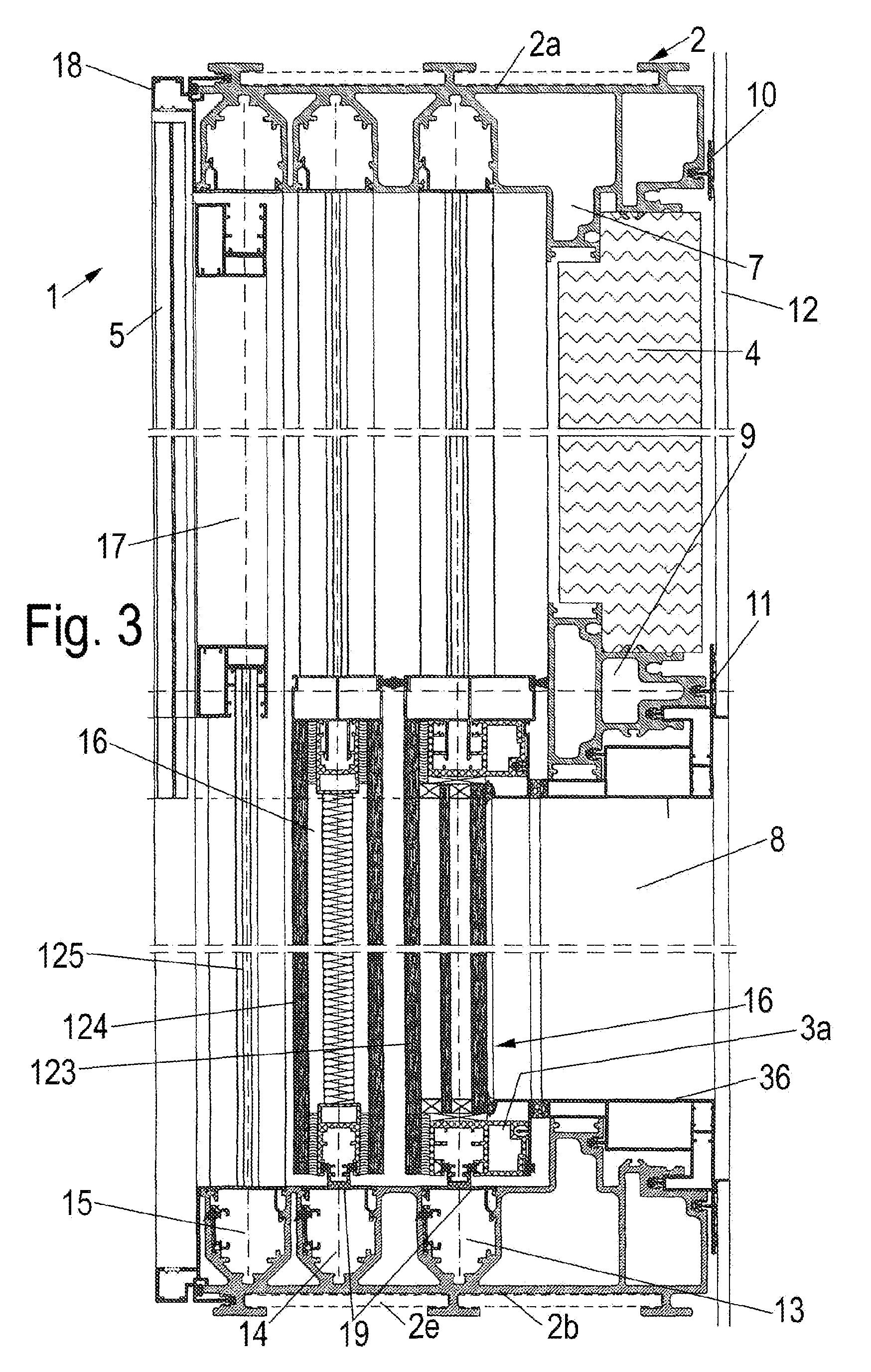 Patent ep2206873a1 w rmeged mmte wandelementeinheit f r for Schiebefenster horizontal