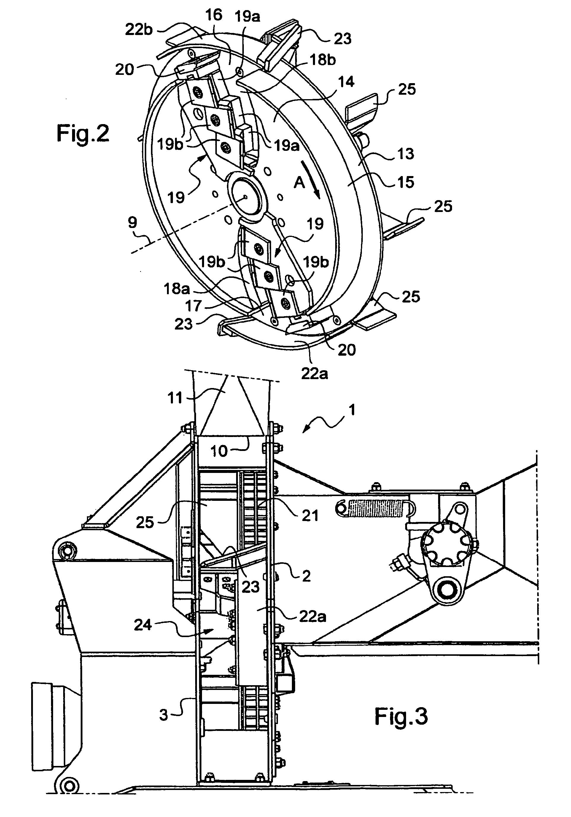 patente ep2266768b1 broyeur de v g taux pour la. Black Bedroom Furniture Sets. Home Design Ideas