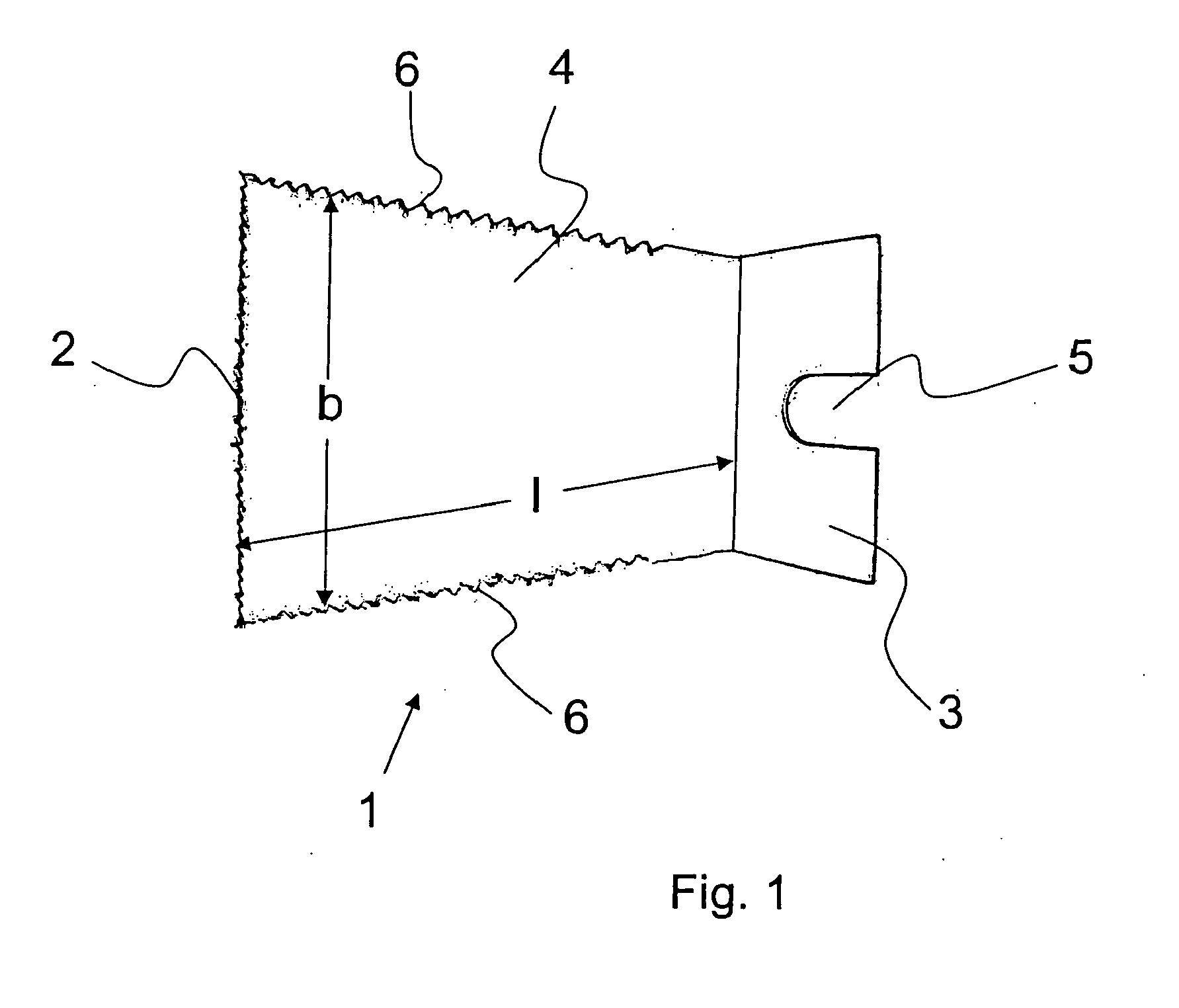 patent ep2295211a1 - oszillationssägeblatt und oszillationssäge