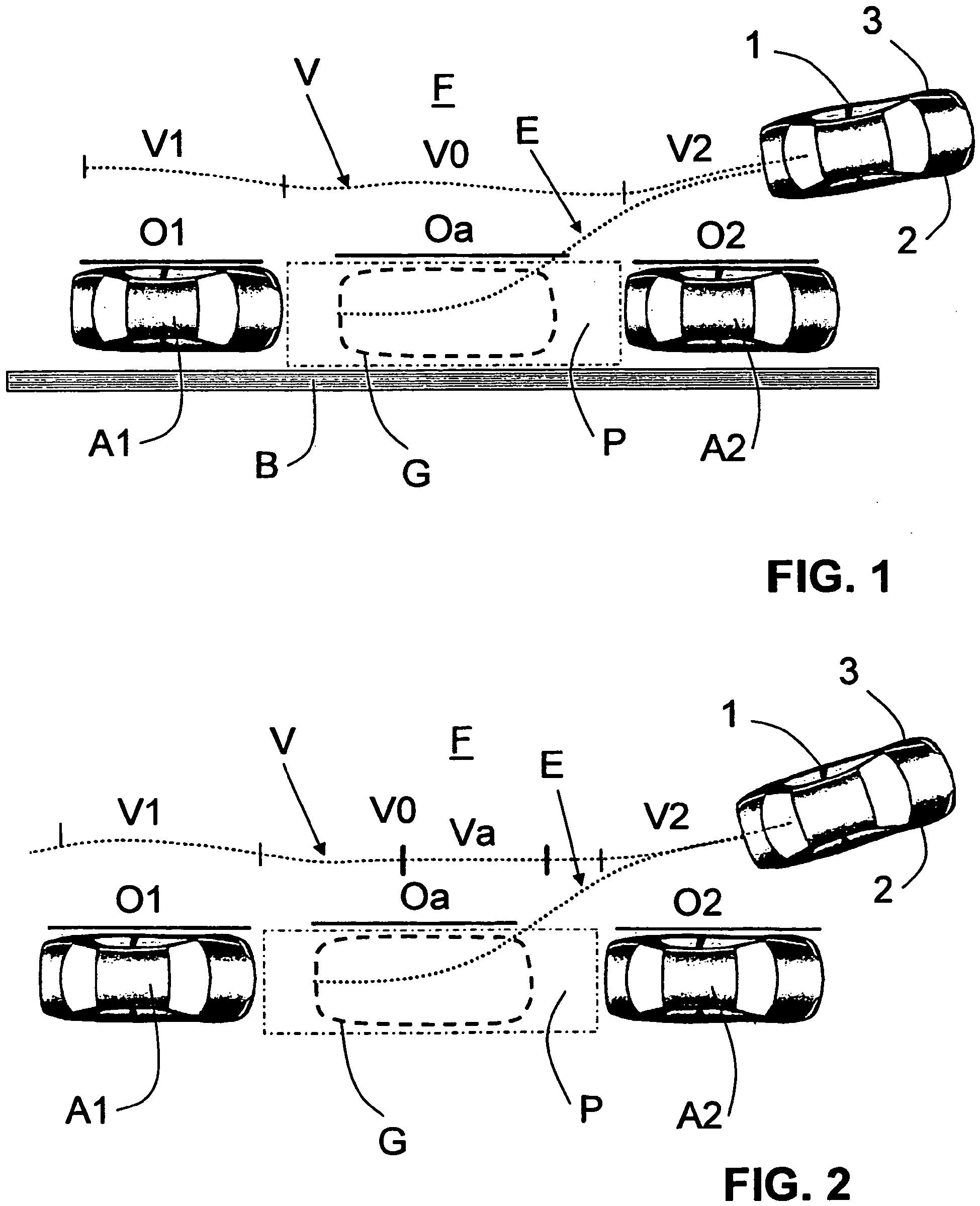 patent ep2318263b1 proc d et dispositif pour faciliter une manoeuvre de parcage d 39 un v hicule. Black Bedroom Furniture Sets. Home Design Ideas