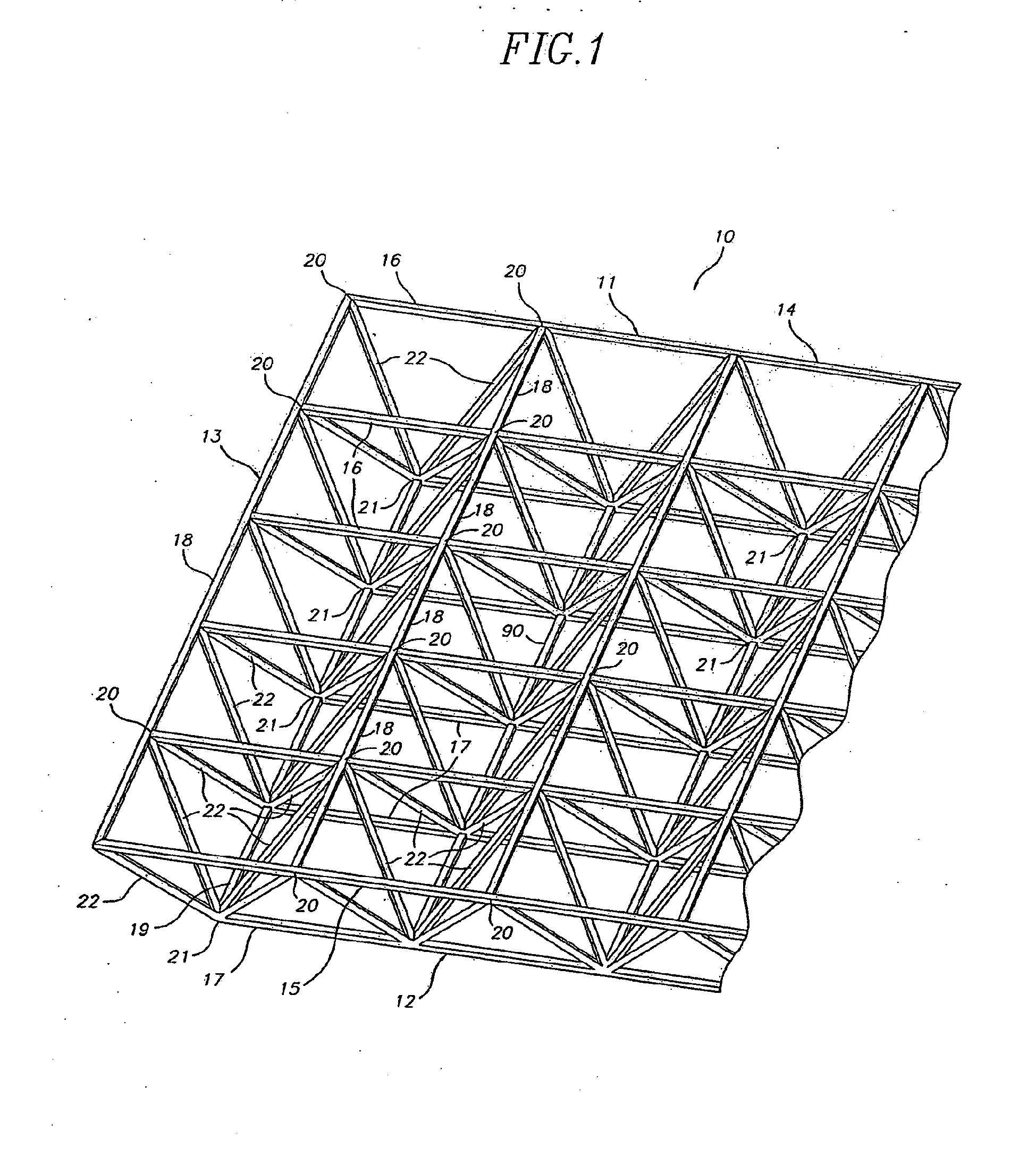 patent ep2357290a2 - a double-layer space frame
